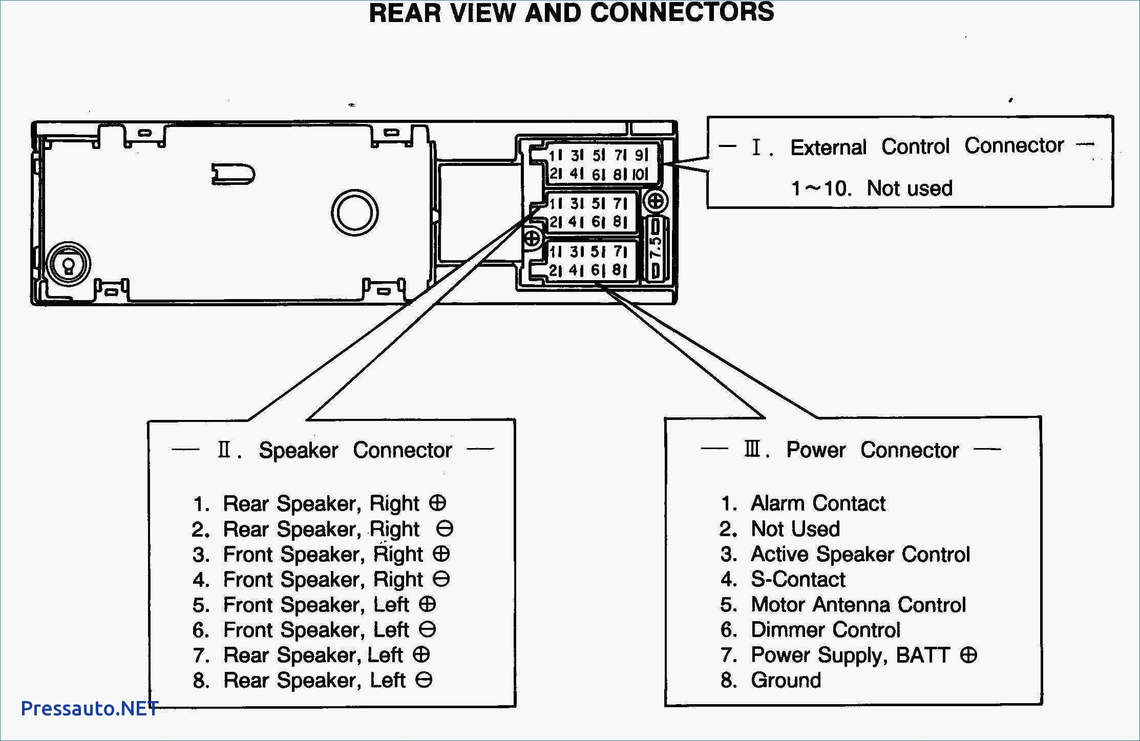 Car Stereo Wiring Harness Diagram Color