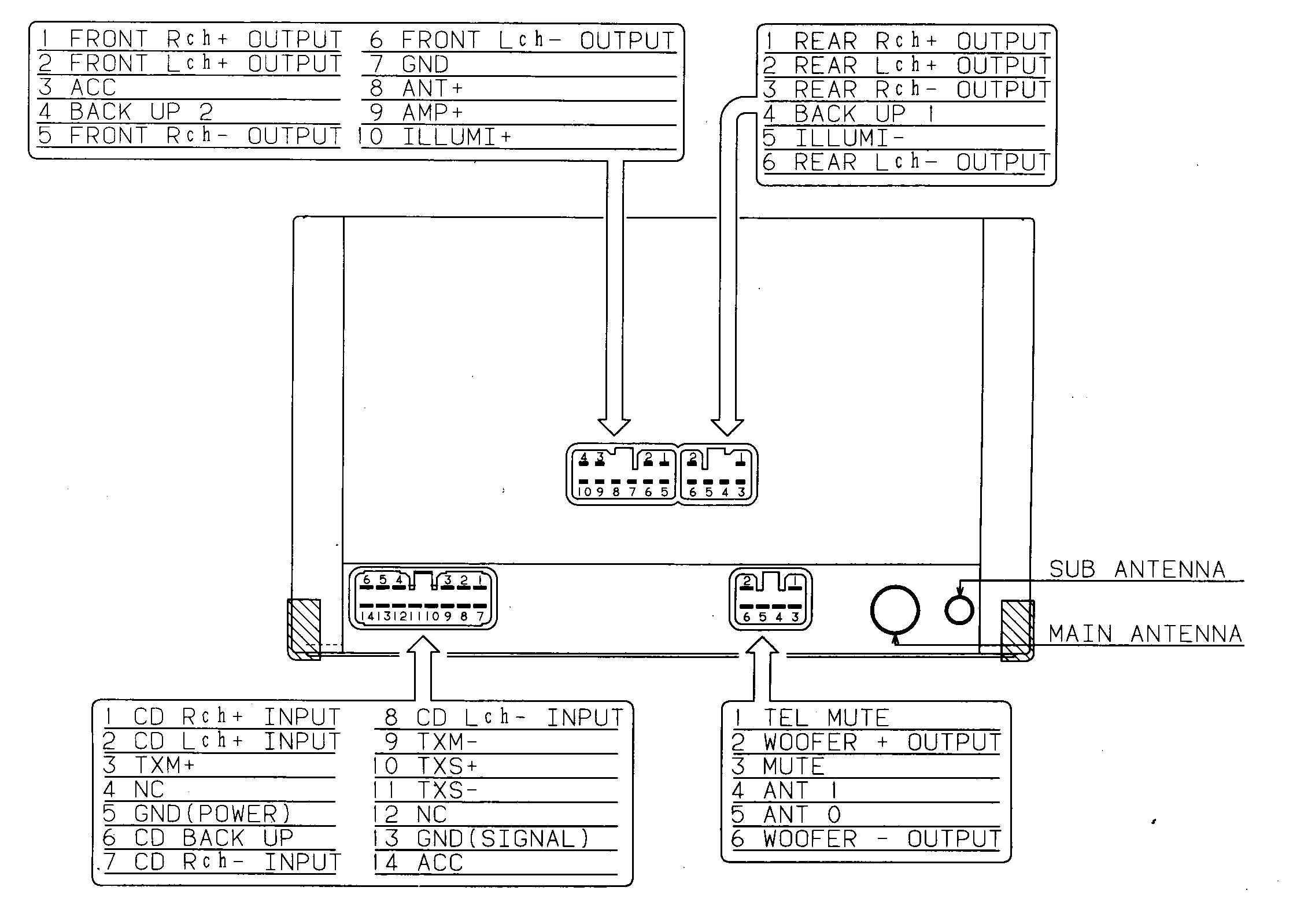 Car Stereo Wiring Harness Diagram sony Xplod Radio Wiring Diagram