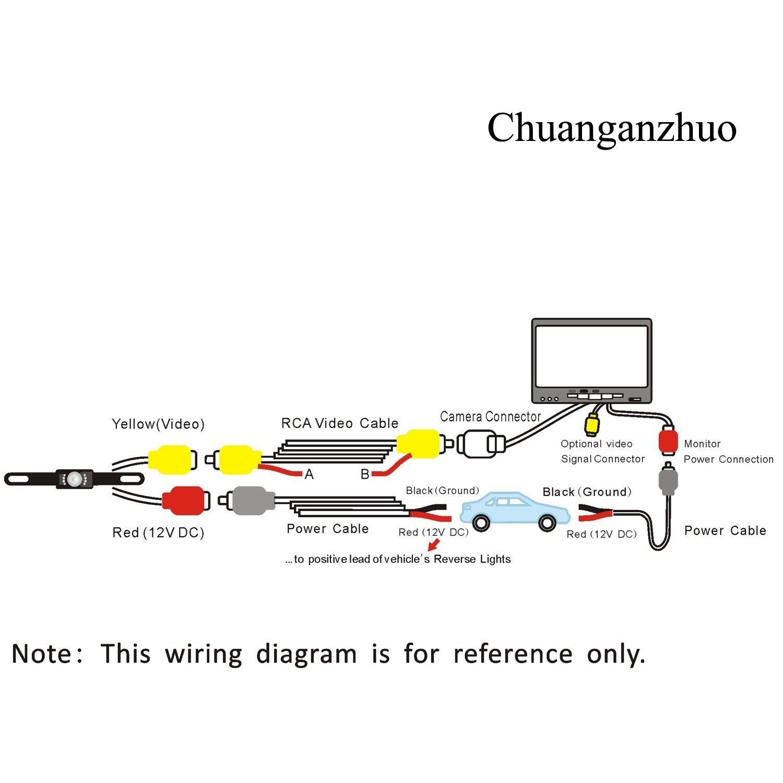 Car Tft Lcd Monitor Wiring Diagram Amazon Backup Camera and Monitor Kit Chuanganzhuo License Of Car Tft Lcd Monitor Wiring Diagram