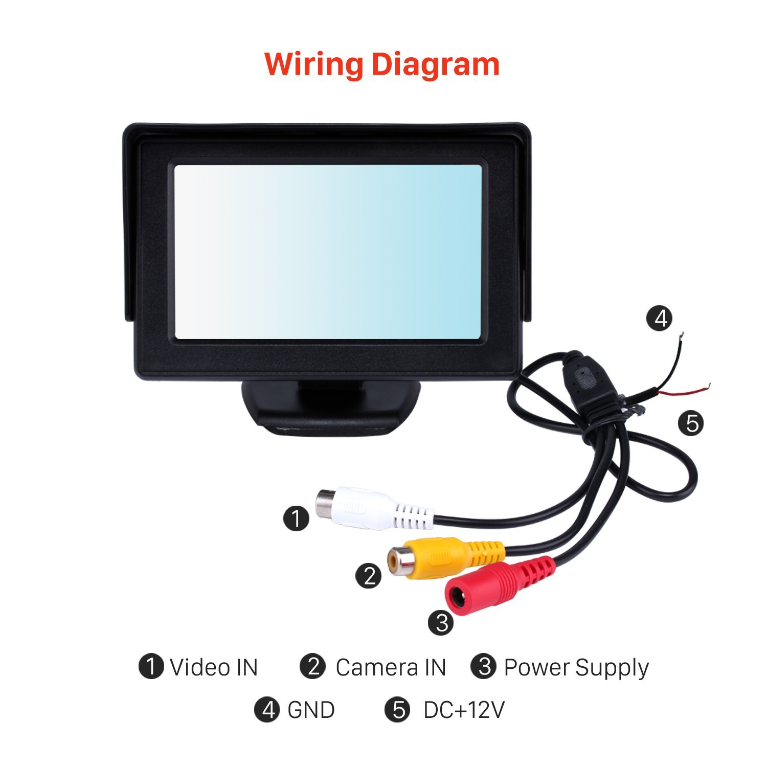 car tft lcd monitor wiring diagram my wiring diagram rh detoxicrecenze com Rear View Camera Wiring Diagram Wireless Reverse Camera Wiring Diagram