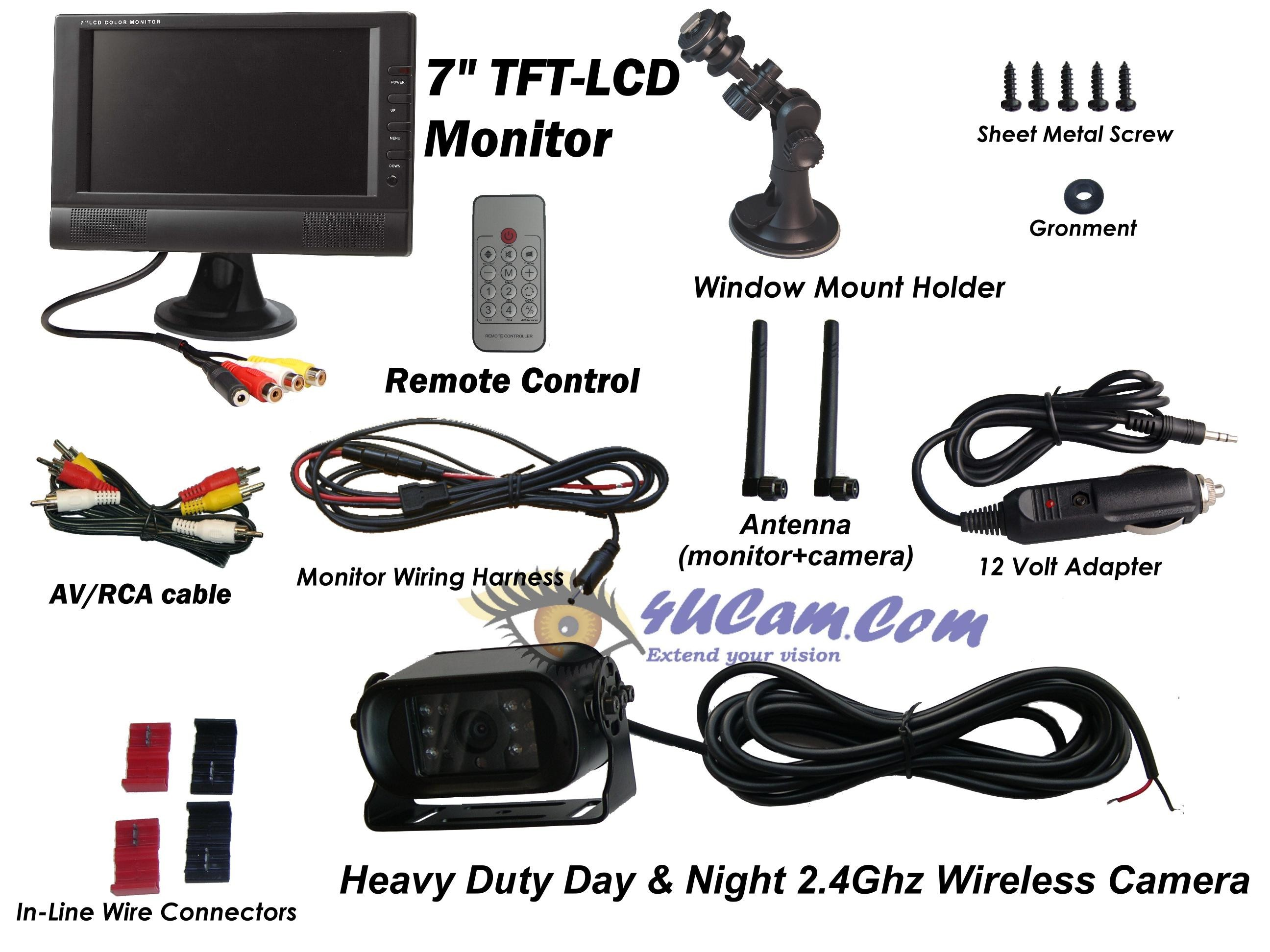 Car Tft Lcd Monitor Wiring Diagram For Rv Backup Camera New Wireless