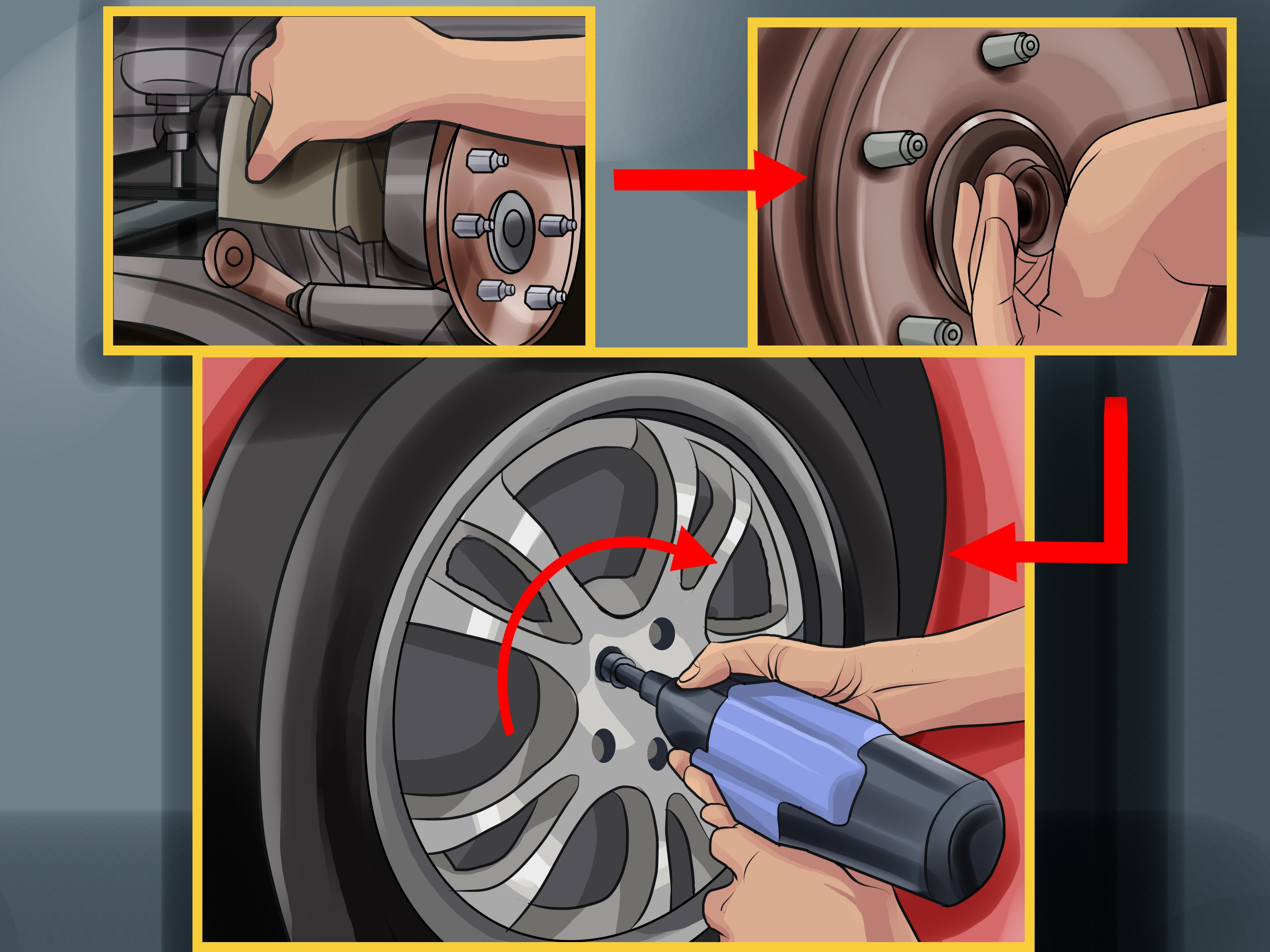 Car Tire Parts Diagram How to Change Wheel Bearings 12 Steps with Wikihow Of Car Tire Parts Diagram