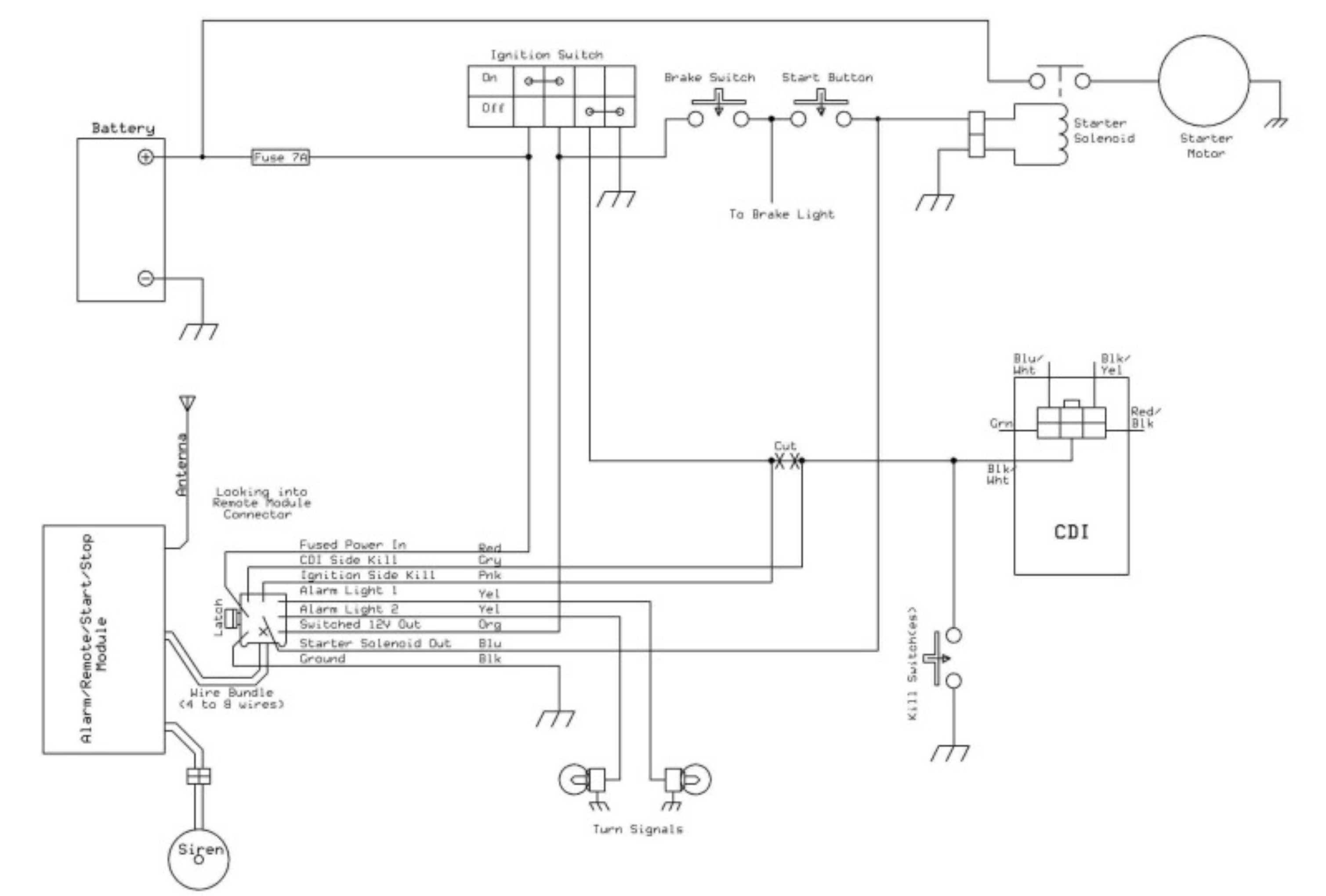 Chinese Scooter Engine Diagram Chinese Cdi Wiring Wiring Diagram ...