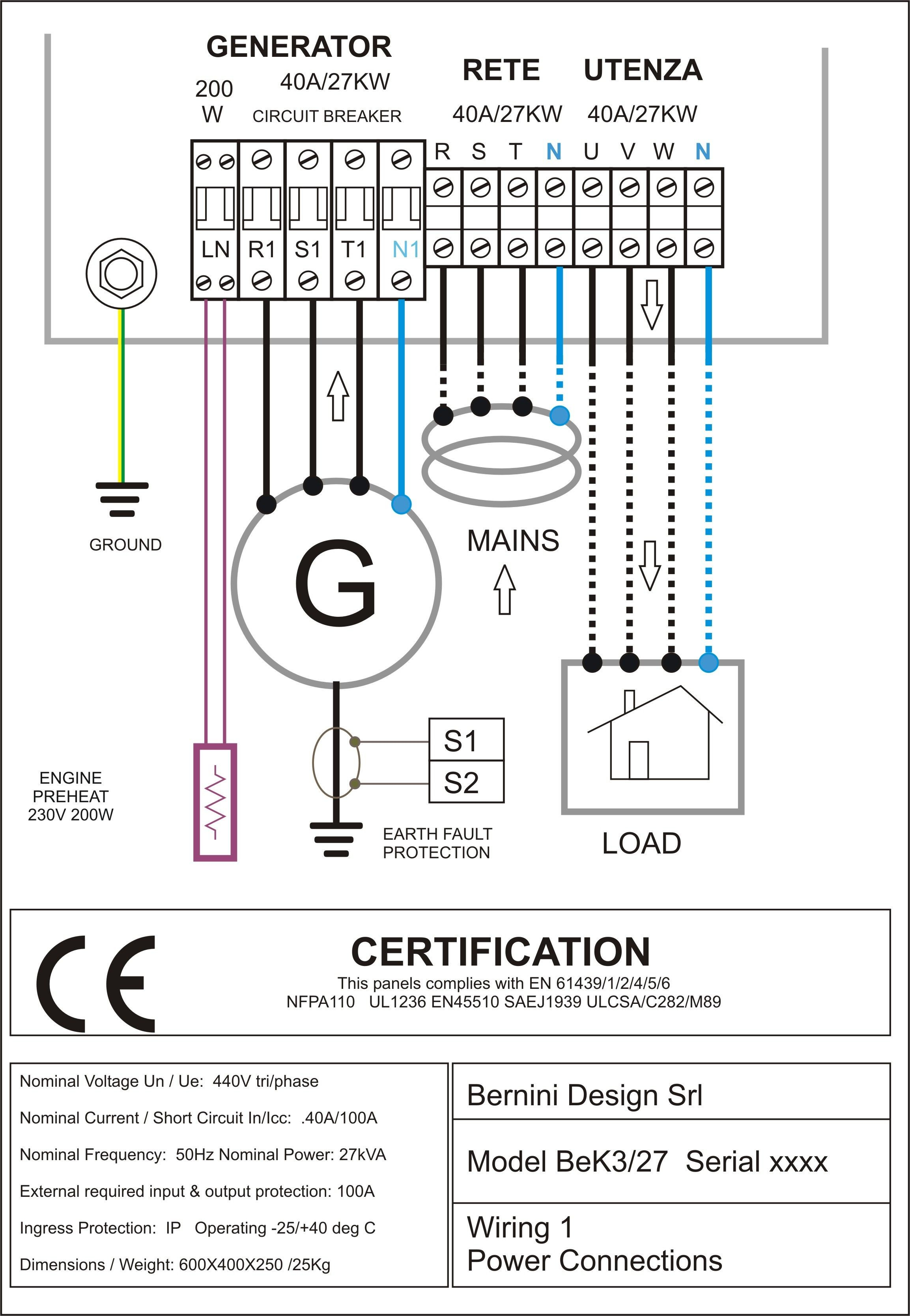 Diagram Of A Diesel Engine Universal Ignition Switch Wiring Sel Generator Control Panel Ac Connections