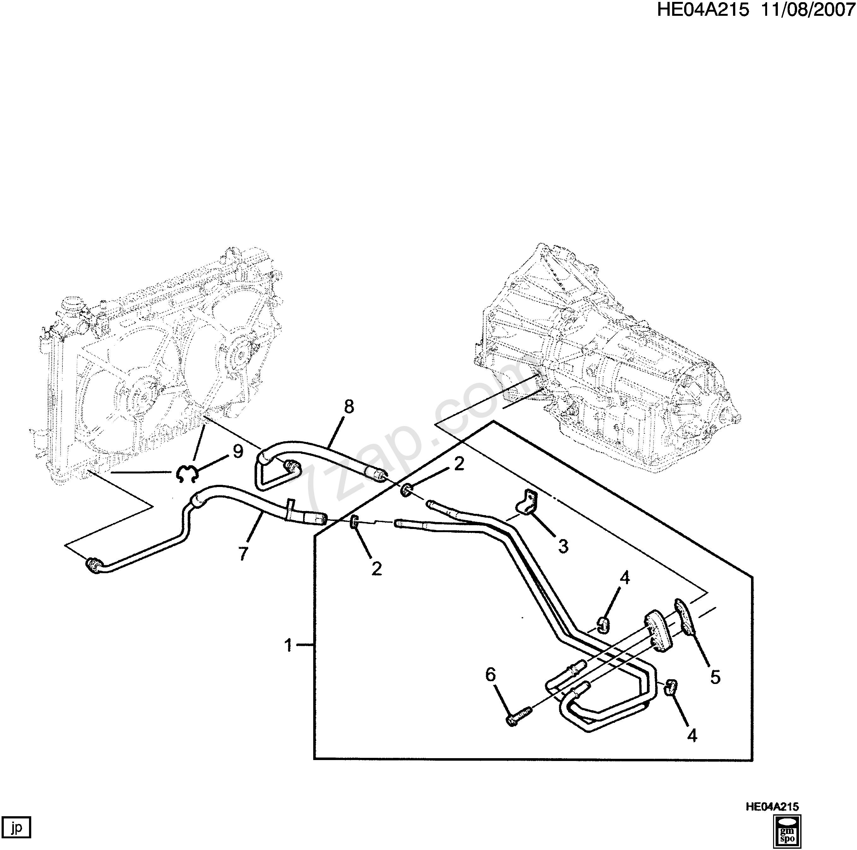 Diagram Of Car Parts In Spanish 37 Wiring Harness Ertiga Avi414 Ek 2011 Ek19 Automatic Transmission Oil Cooler Pipes Myc