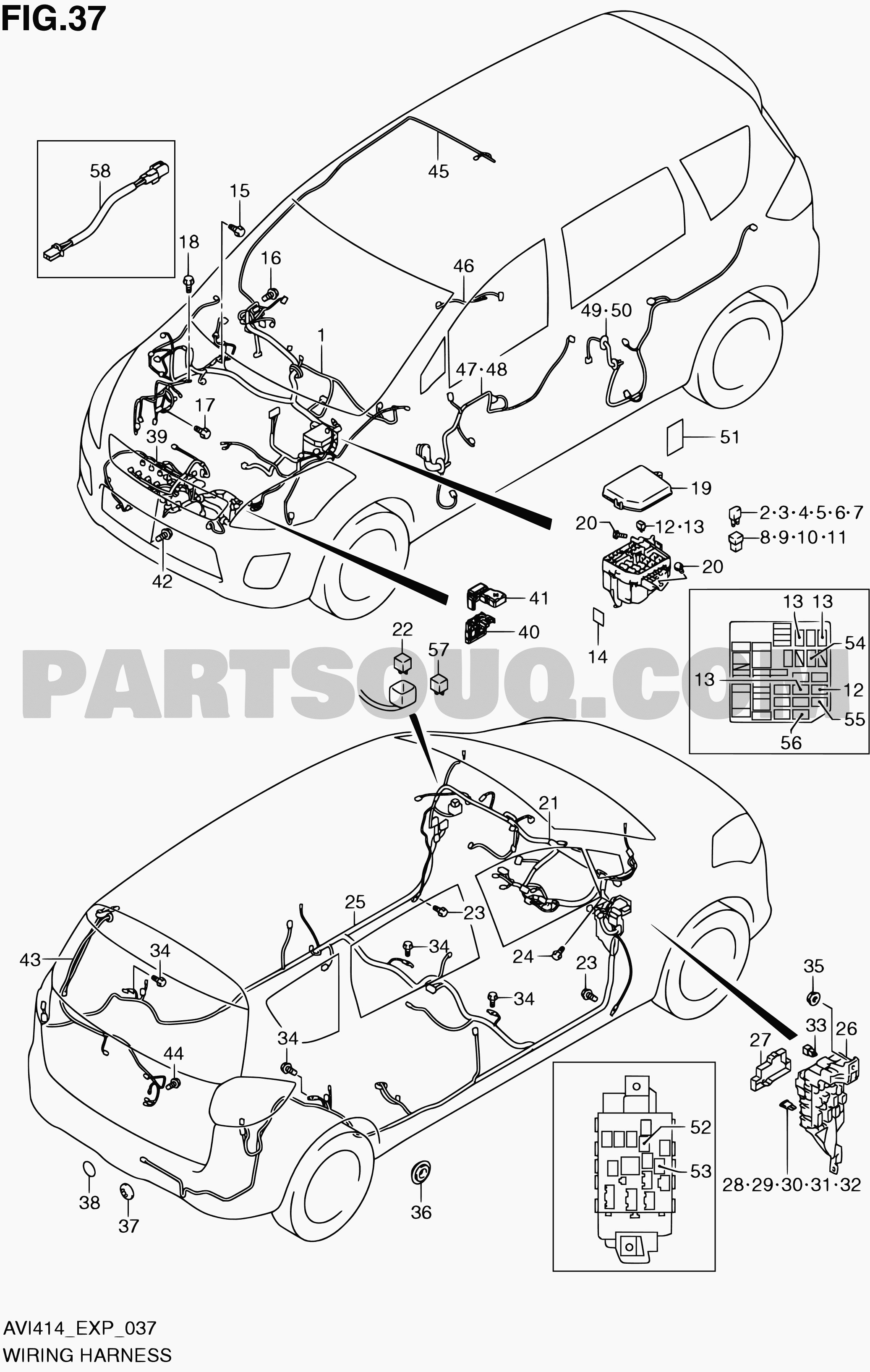 Diagram Of Car Parts In Spanish 37 Wiring Harness Ertiga Avi414 Avi414 P06 P85