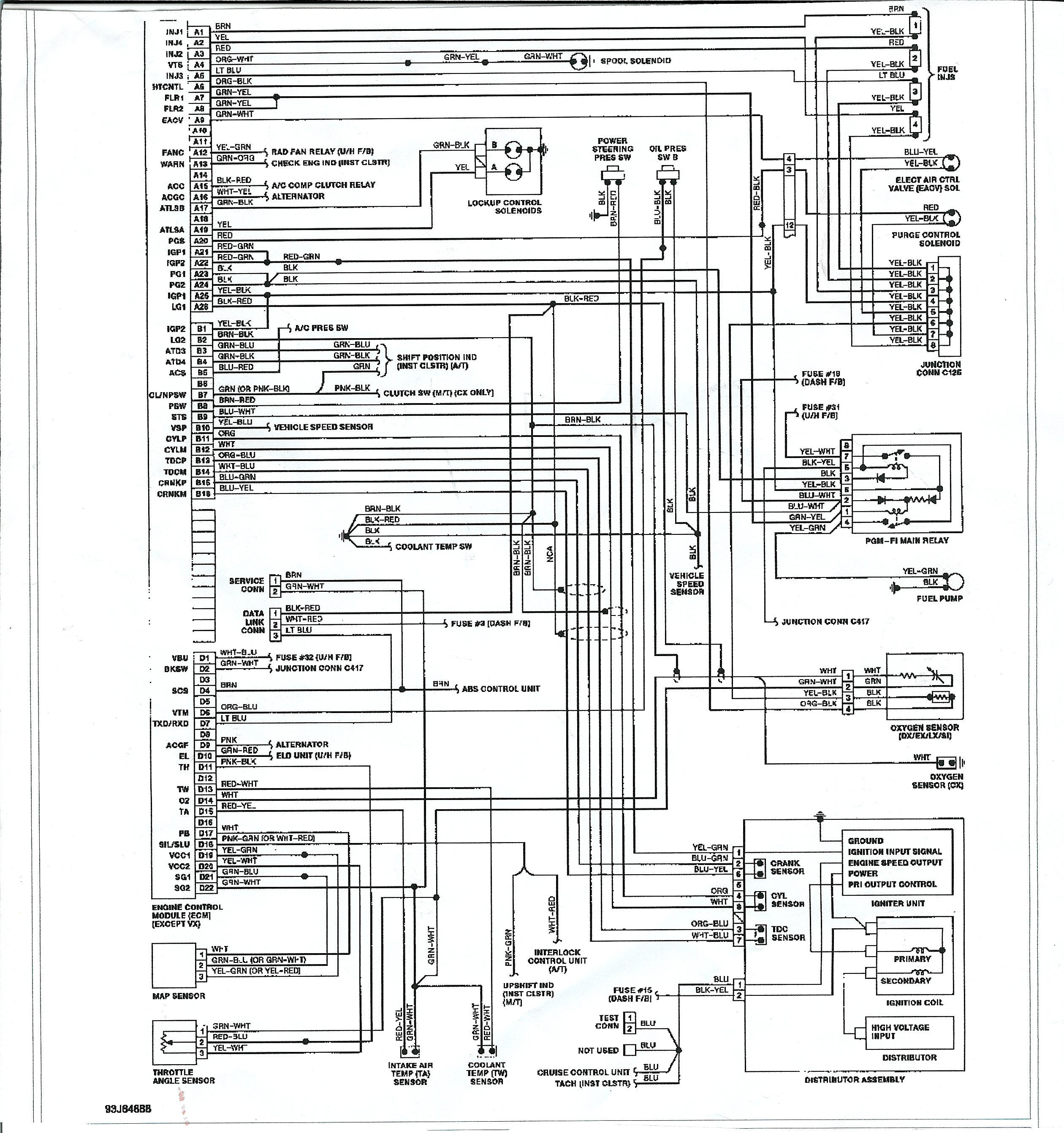 1998 Honda Civic Wiring Schematic