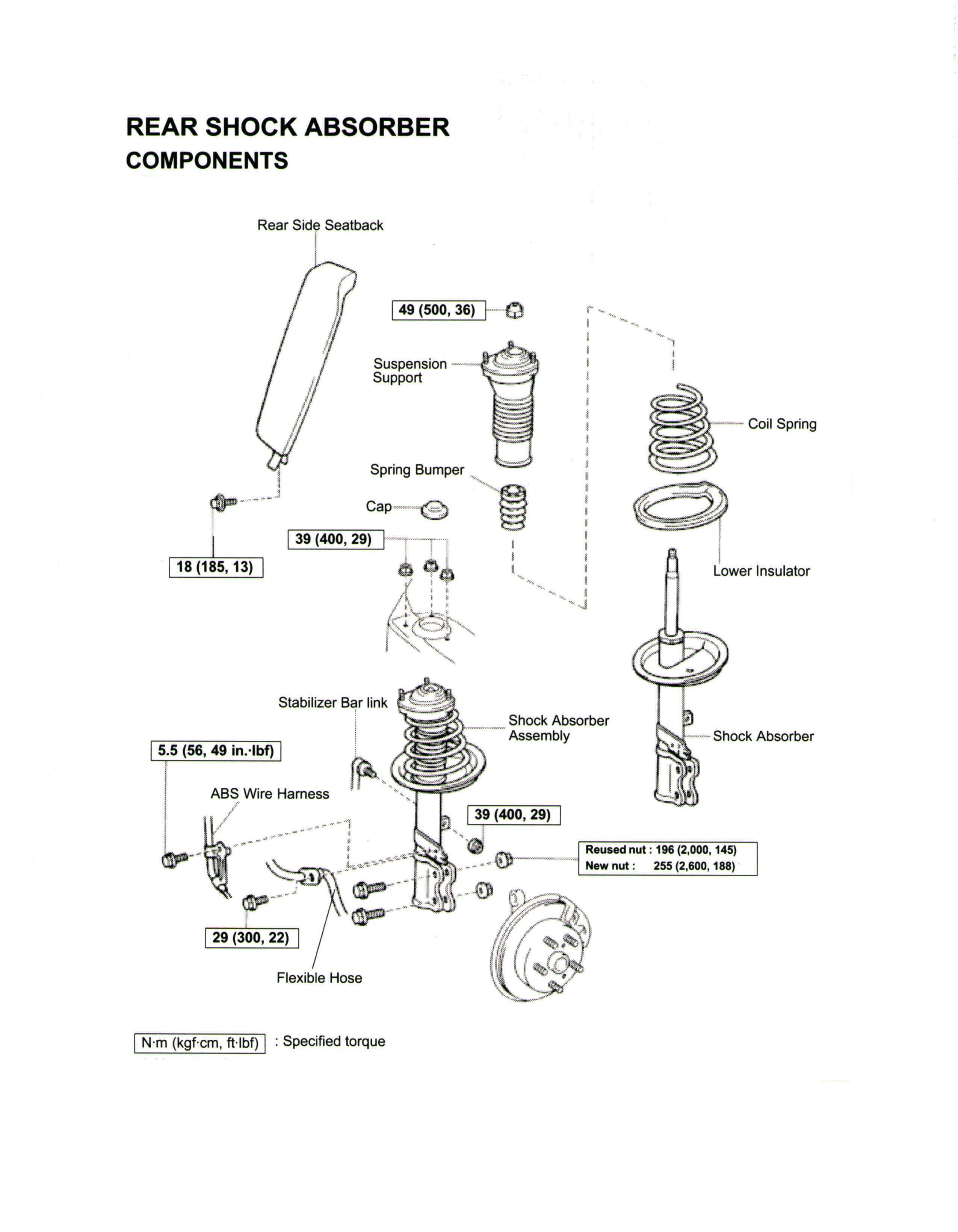 Diagram Suspension System Replacing the Rear Strut and or Coil Spring On A toyota Camry Of Diagram Suspension System