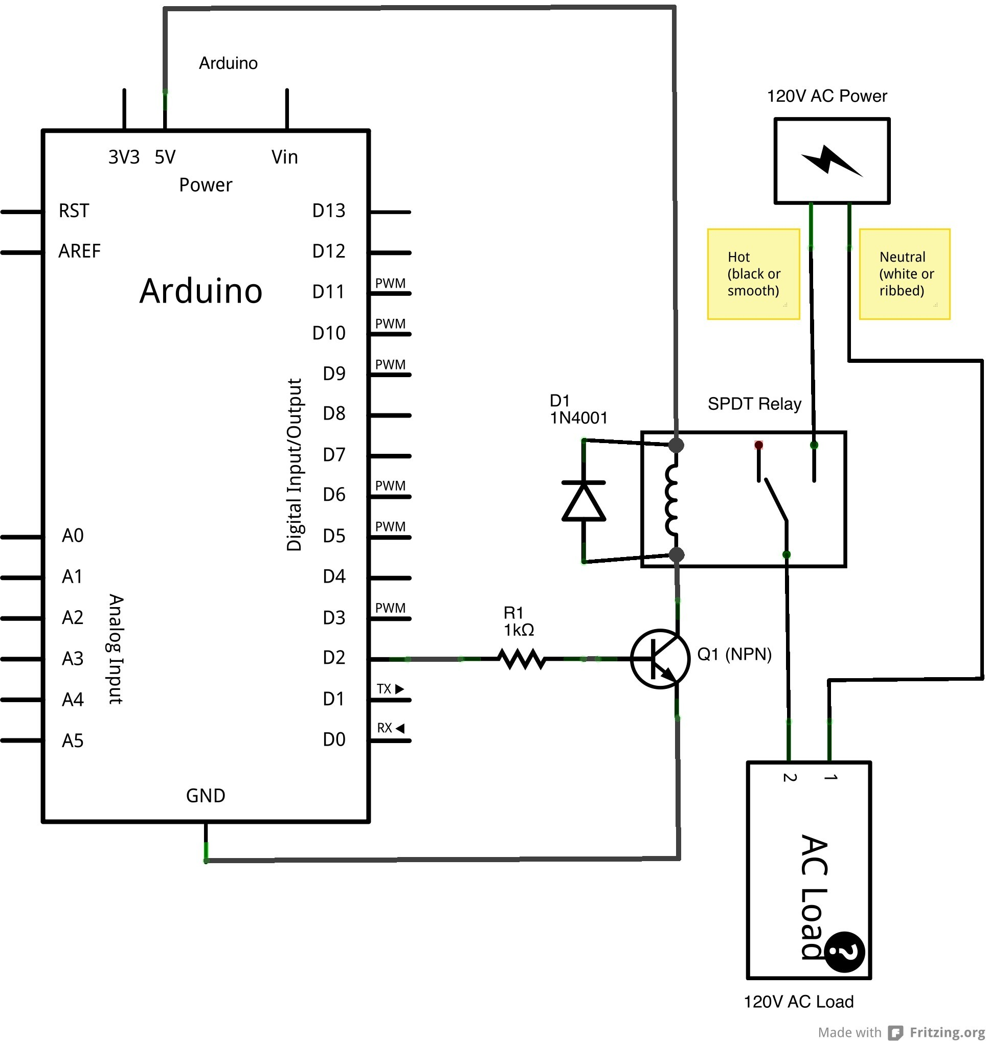 Spdt Switch Wiring Arduino - Wire Data Schema •