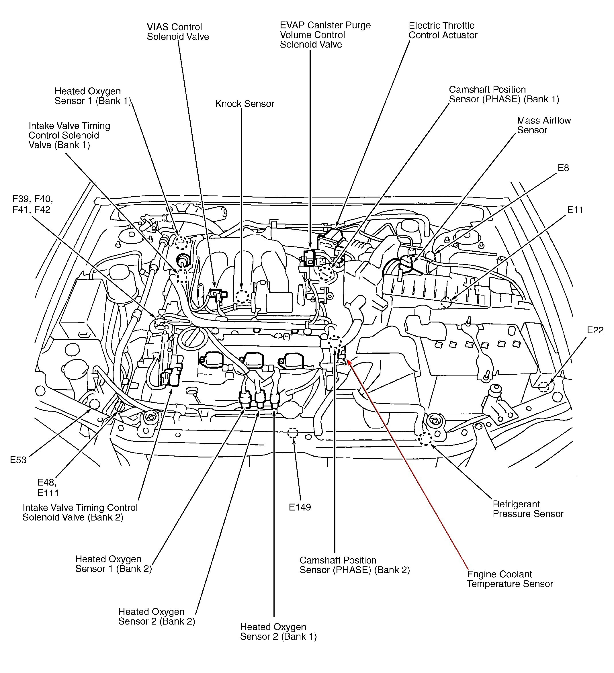 honda engine diagram with labeled parts