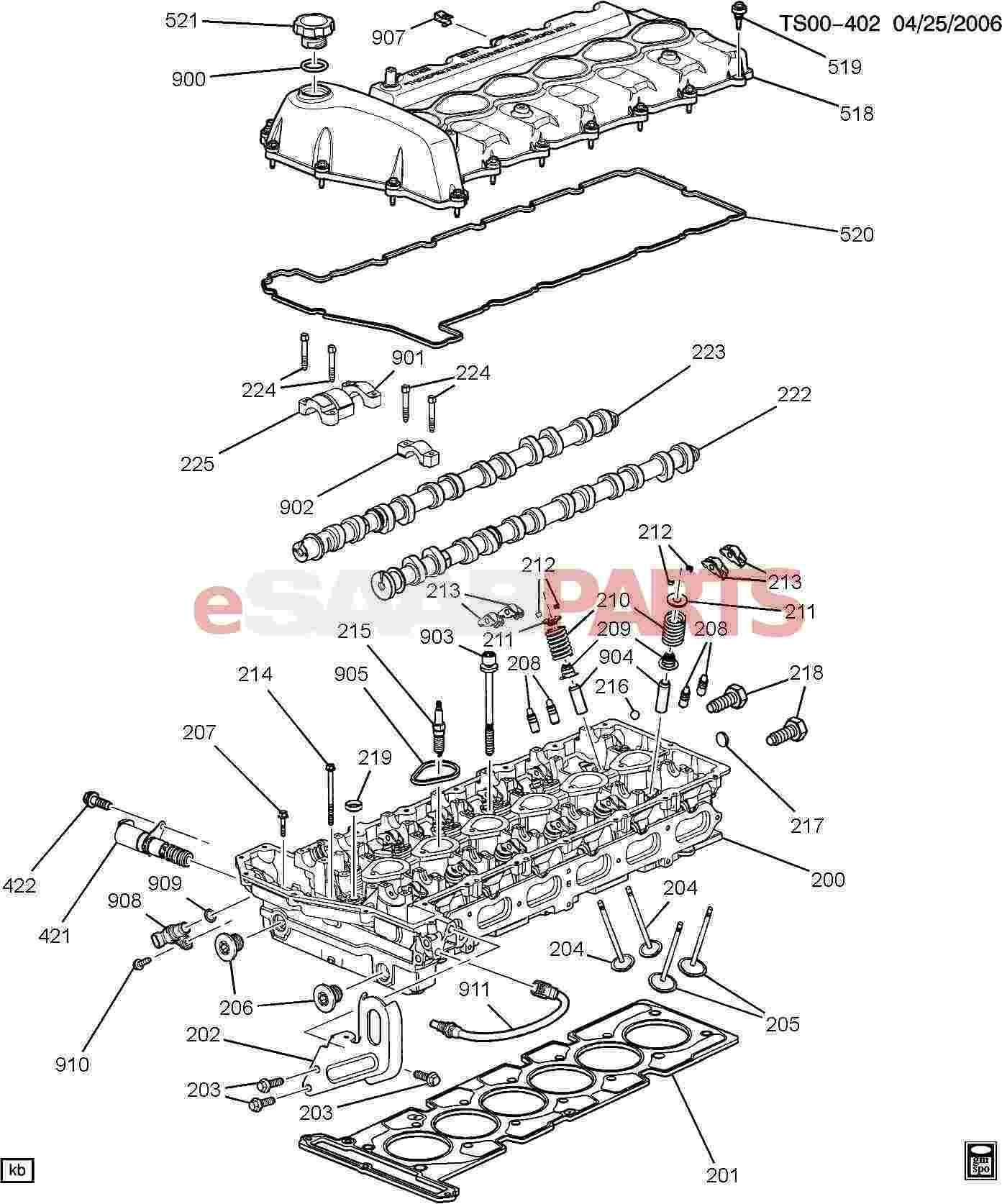 engine parts diagram with names   saab bolt hfh m6x1x20 17