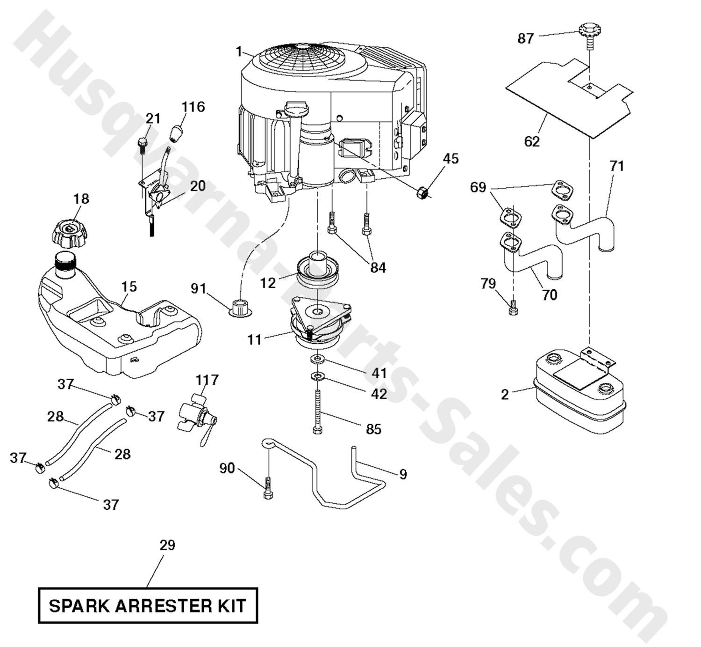 Engine Valve Parts Diagram Gth27v48ls Husqvarna Riding Mower Engine Parts Of Engine Valve Parts Diagram