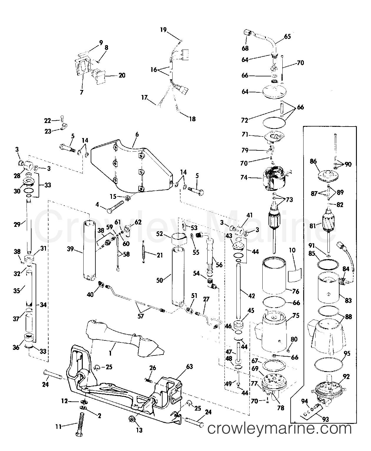 evinrude 15 hp parts diagram power tilt and trim 50 hp