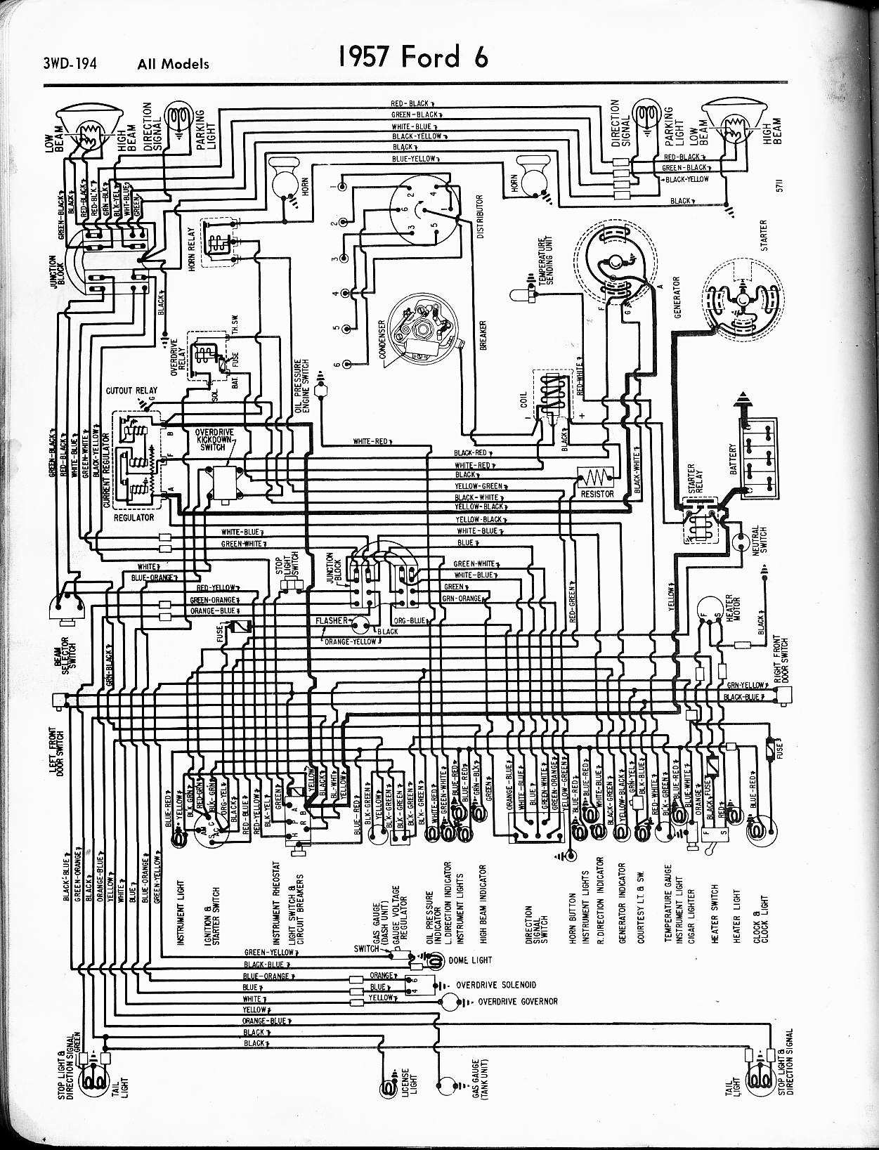 Ford F250 Parts Diagram 1957 ford Wiring Diagram Wiring Data Of Ford F250  Parts Diagram Zetec