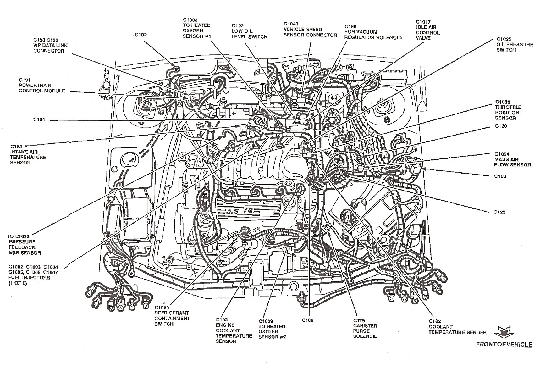 bmw 2001 engine compartment diagram