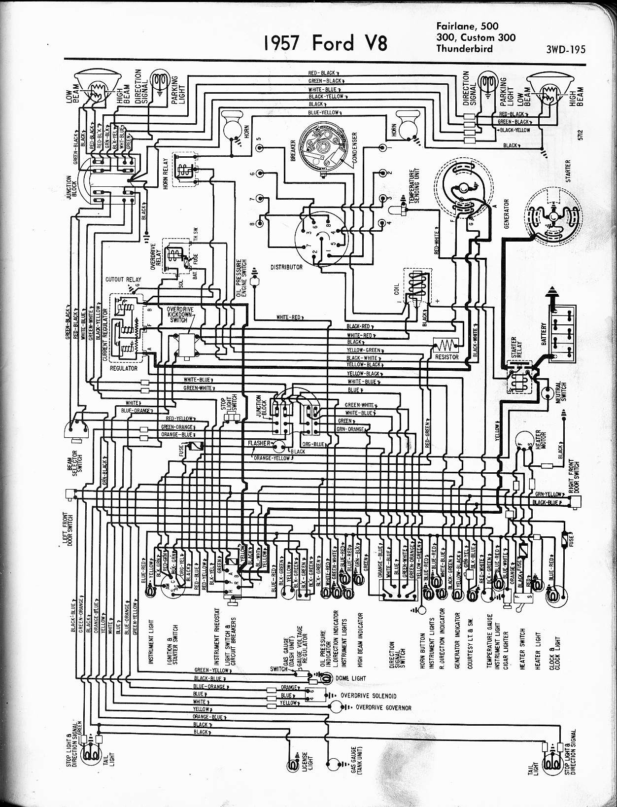 1957 Ford Thunderbird Wiring Diagram Msd Ignition - Auto Electrical ...