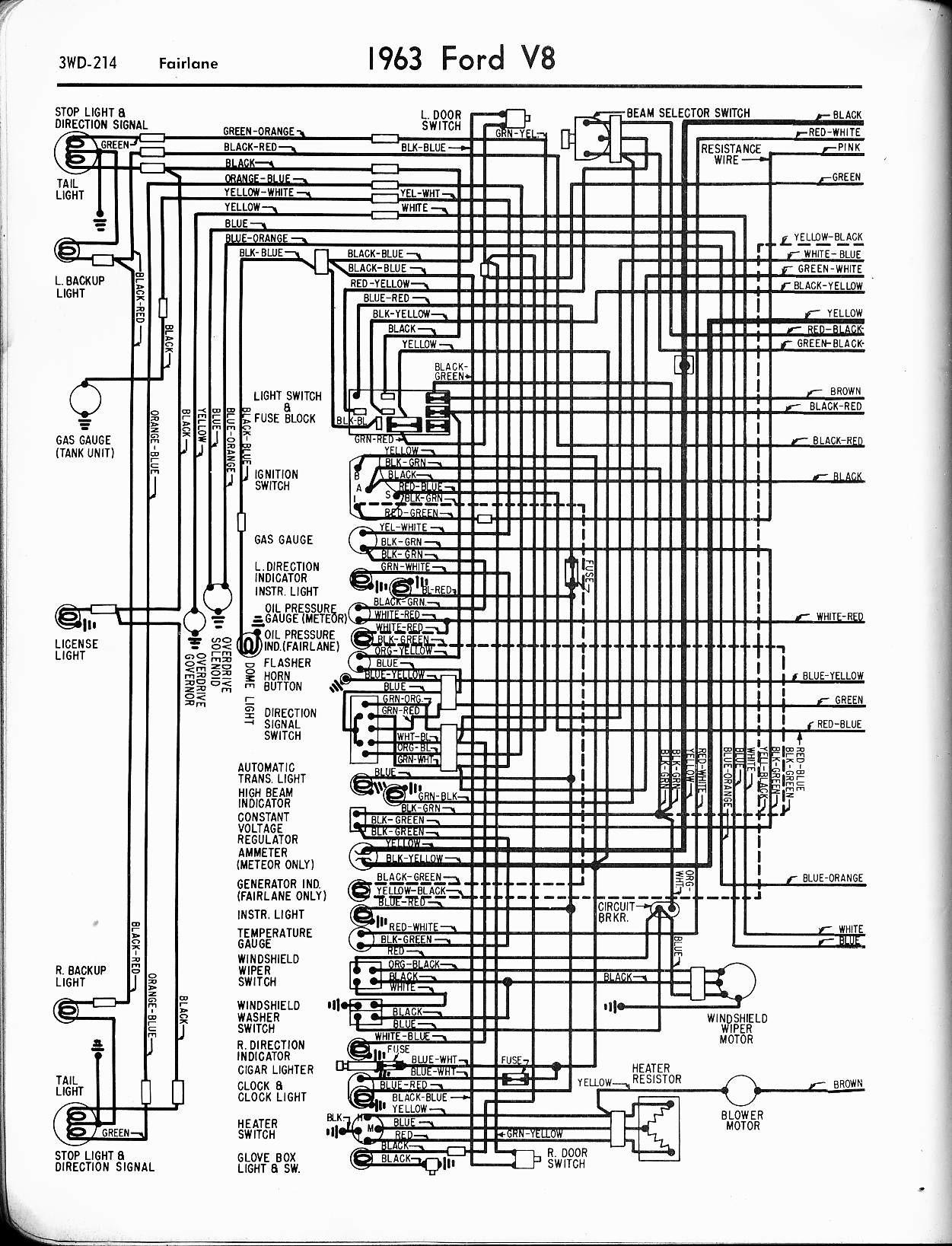 Ford Radio Wiring Harness Diagram 57 65 ford Wiring Diagrams Of Ford Radio Wiring Harness Diagram