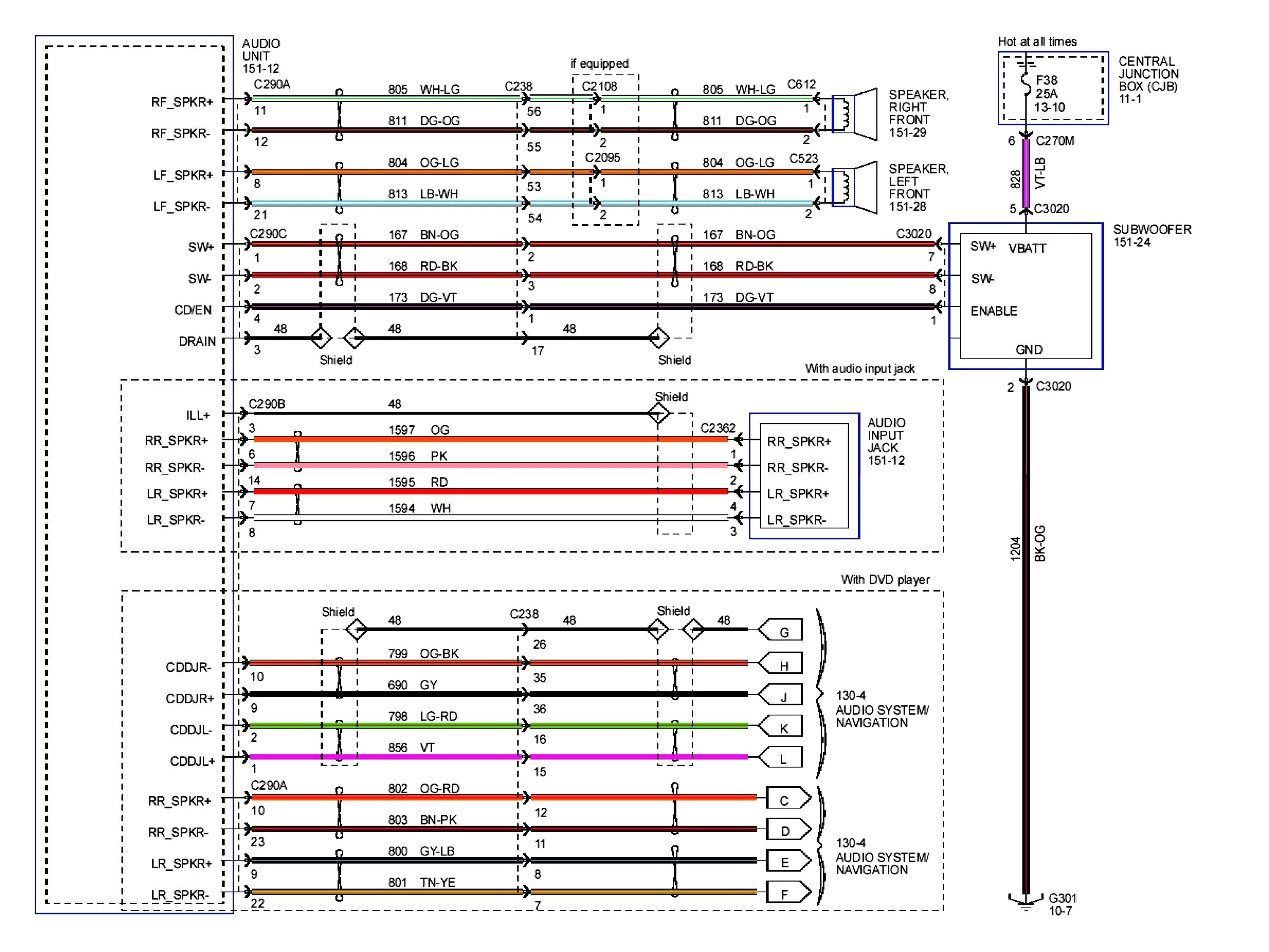 2004 Ford Freestar Stereo Wiring Diagram