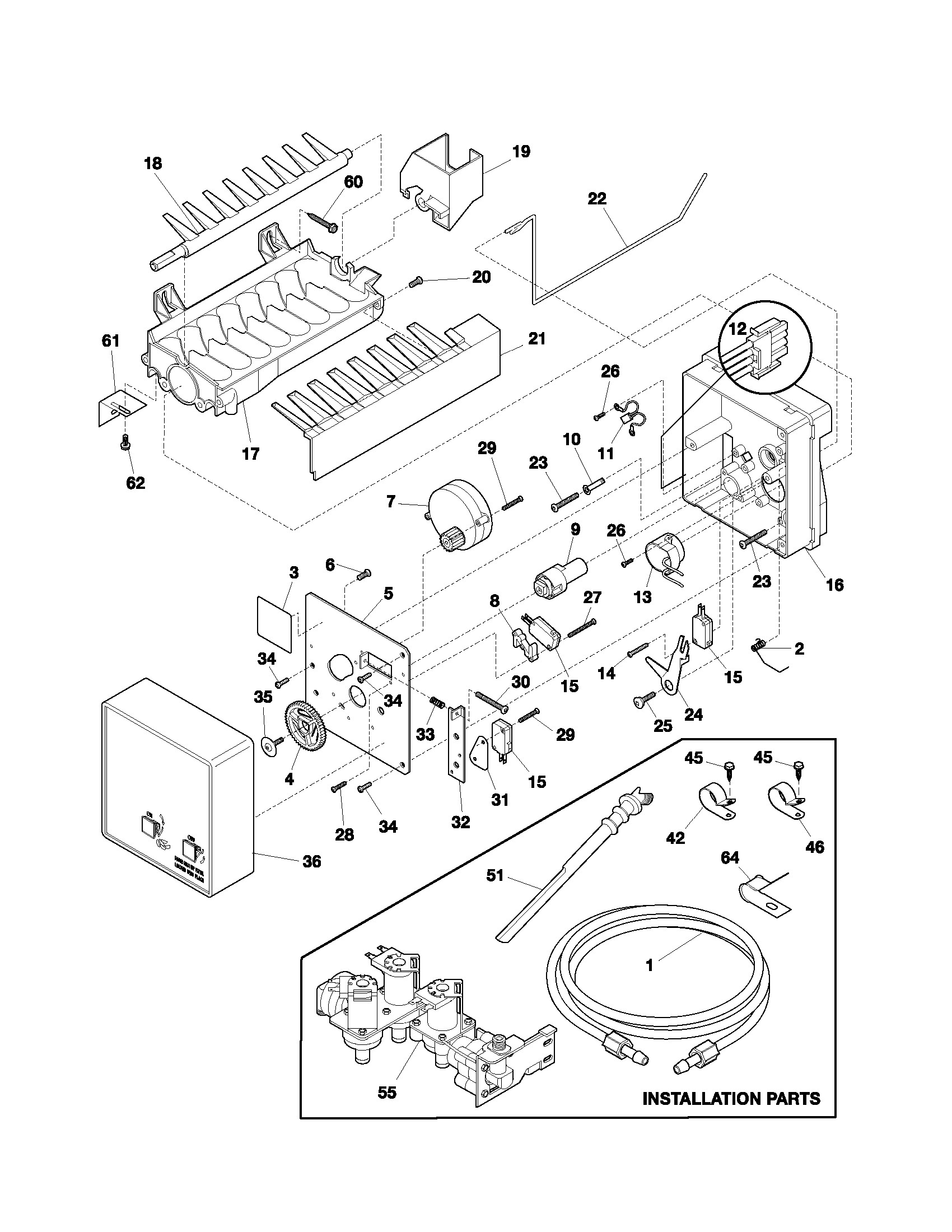 Frigidaire Ice Maker Parts Diagram Frigidaire Model Frs26rlecs0 Side by Side Refrigerator Genuine Parts Of Frigidaire Ice Maker Parts Diagram