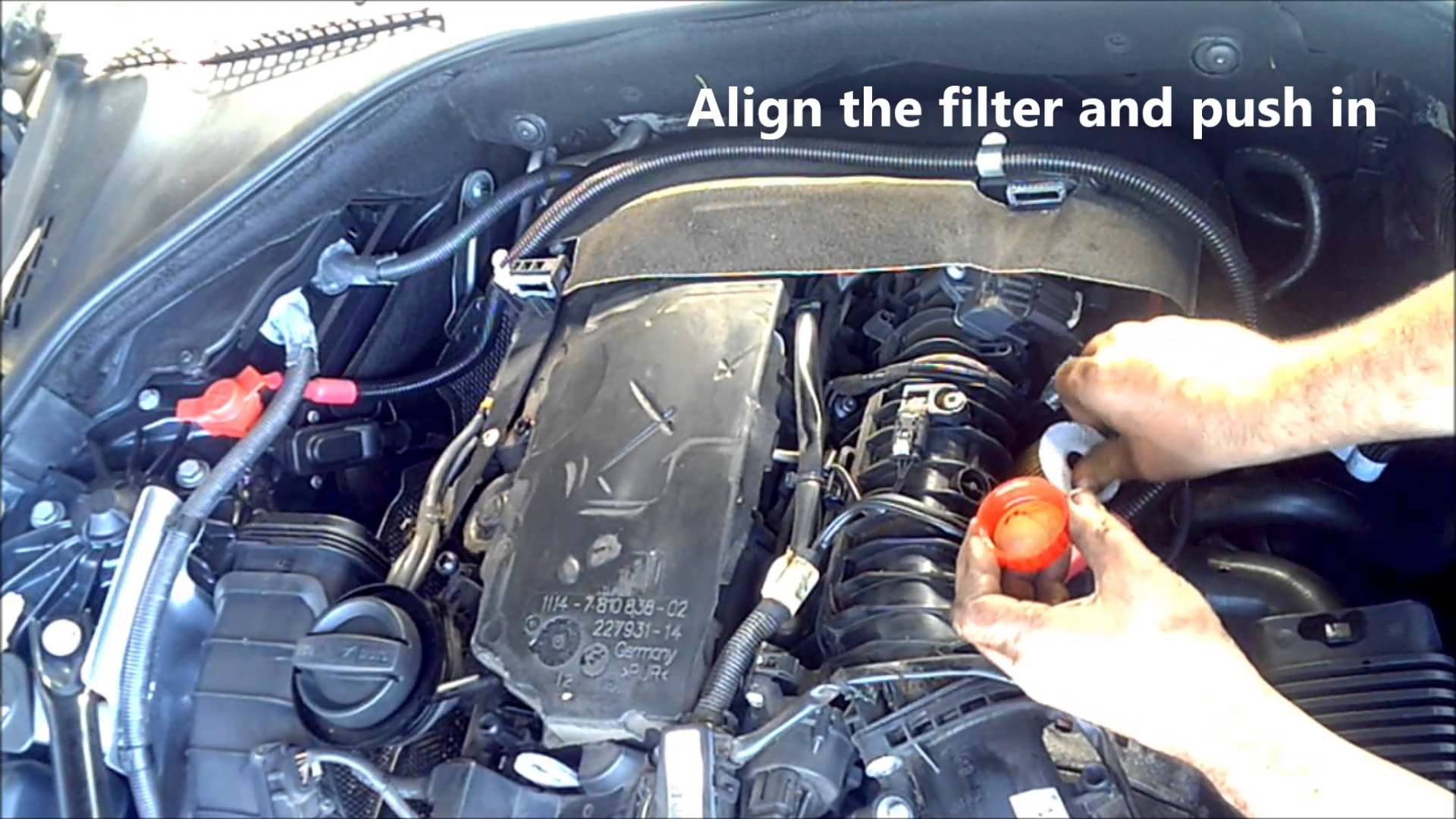 Fuel Filter Diagram Bmw 520d Diesel Air Oil Change 2012 Ford Fiesta Service And Reset F10 Of