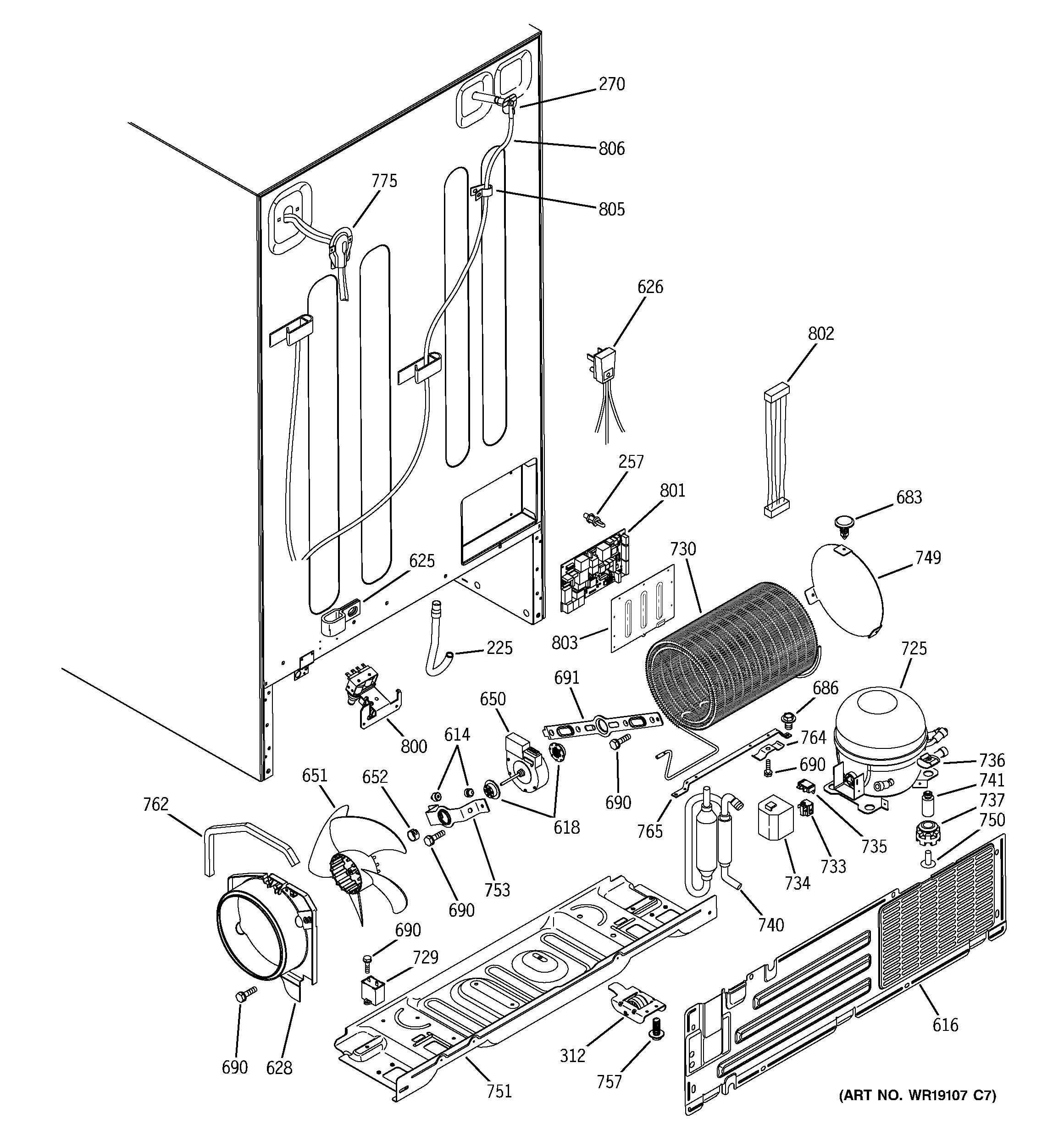 ge monogram ice maker parts diagram
