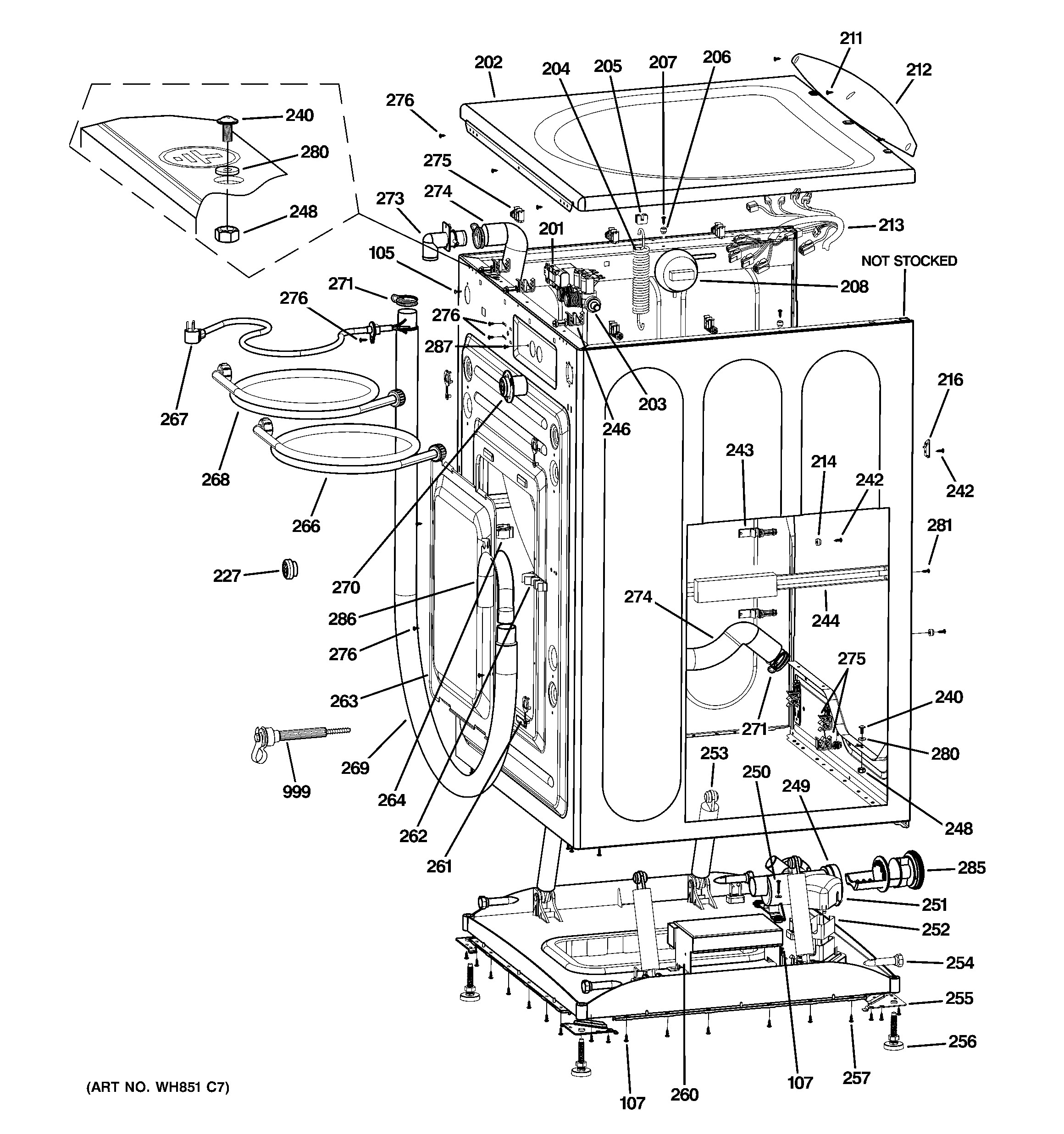 Ge Washer Parts Diagram Ge Model Gcvh6800j5mv Residential Washers Genuine Parts Of Ge Washer Parts Diagram