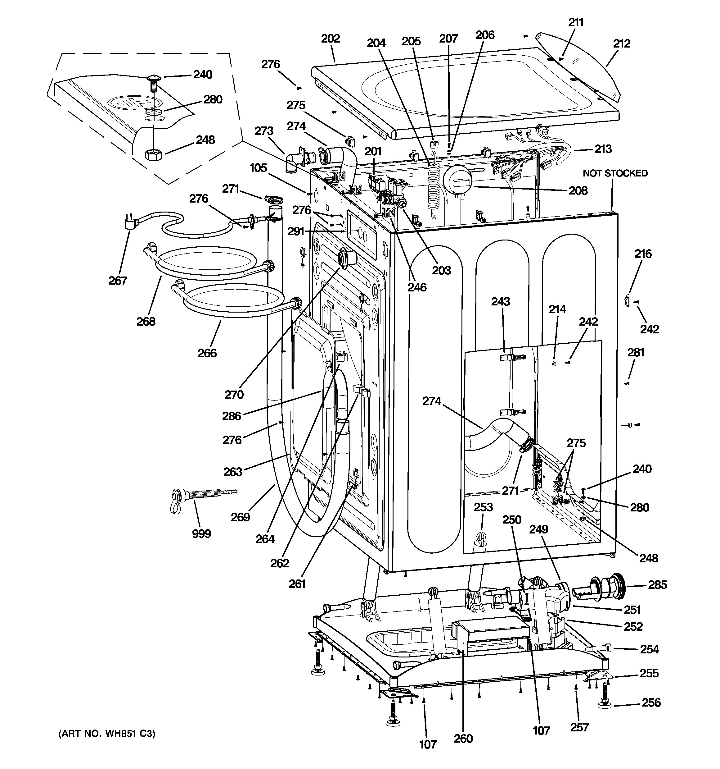 Ge Washer Parts Diagram Ge Model Wbvh5200j0ww Residential Washers Genuine Parts Of Ge Washer Parts Diagram