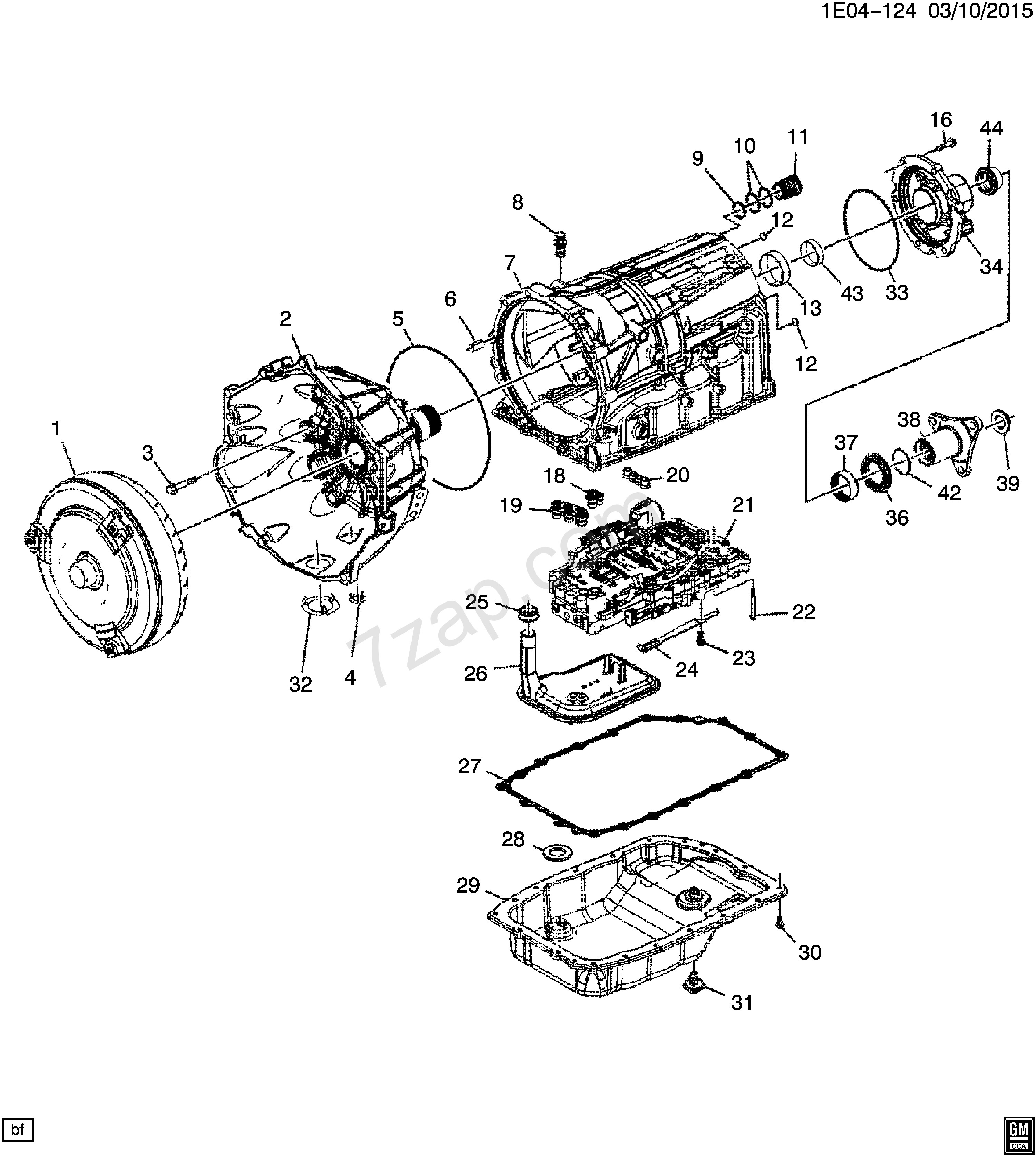 Gm Parts Diagrams with Part Numbers 2014 2017 Ek19 Automatic Transmission Myc 6l80 Case & Related Of Gm Parts Diagrams with Part Numbers