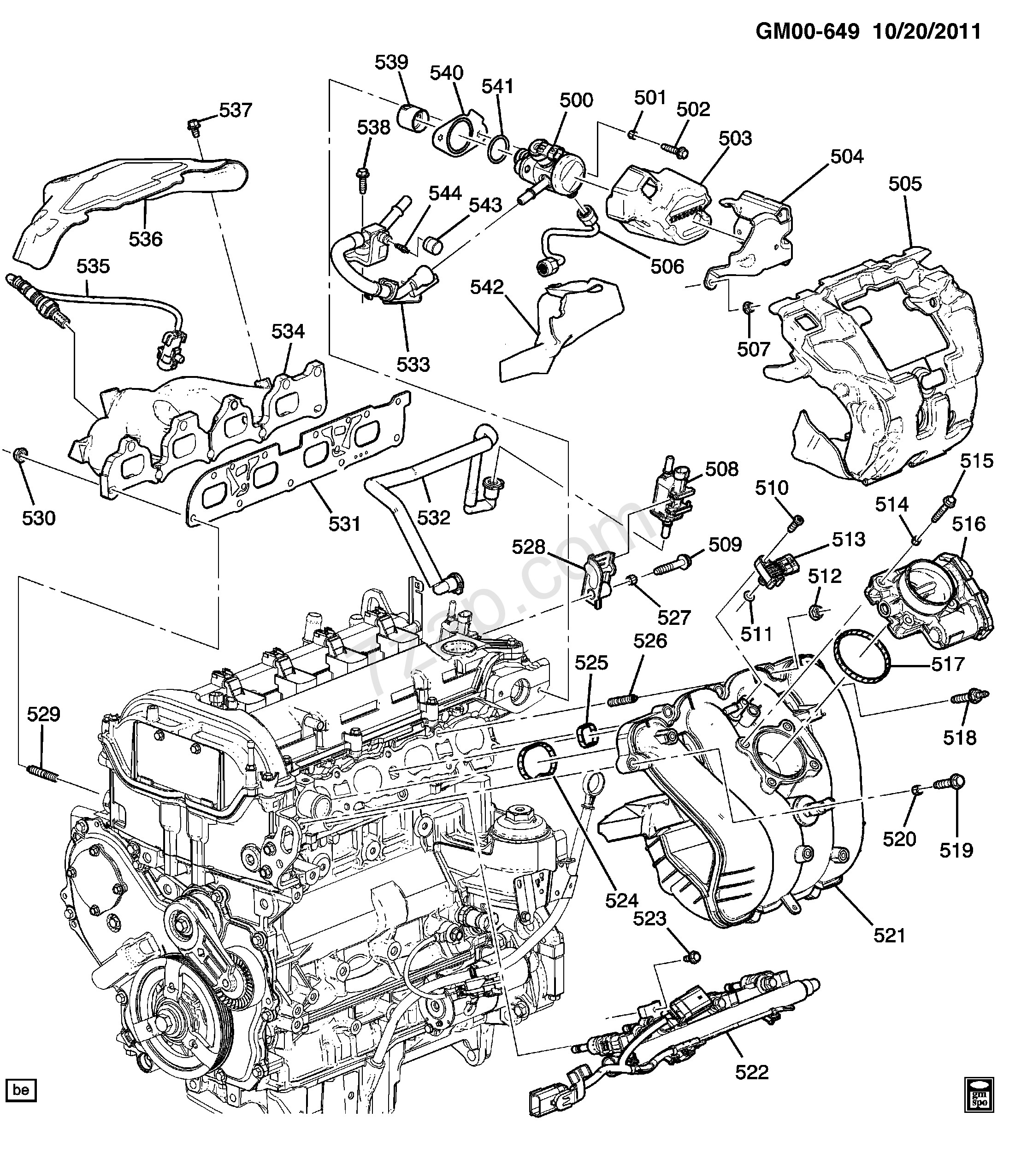 toyota 2 5 engine diagram data wiring diagrams Toyota 2.5 Engine Chain  Marks Toyota Engine Models