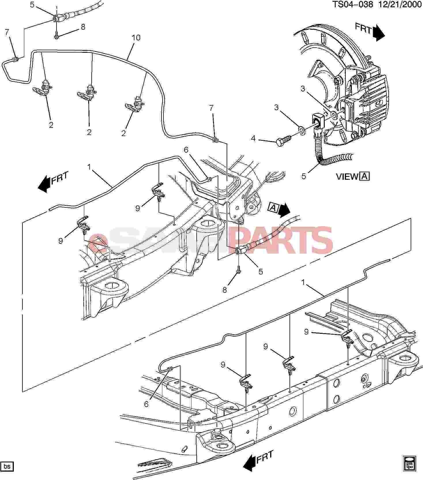 gmc envoy parts diagram esaabparts saab 9 7x brakes parts