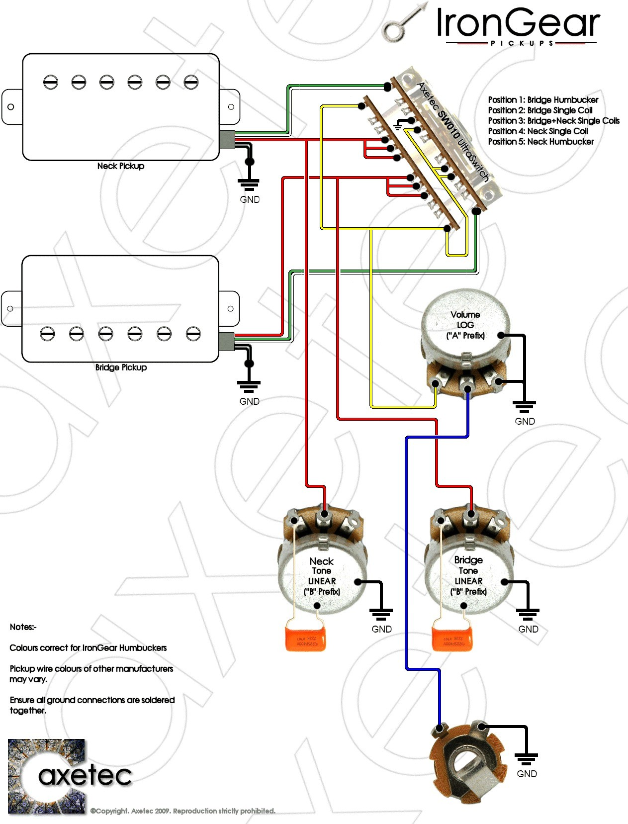 Guitar Wiring Diagrams 2 Pickups Humbucker Wiring Diagrams To Her 4-Wire  Humbucker Wiring 2wire Humbucker Wiring Diagram
