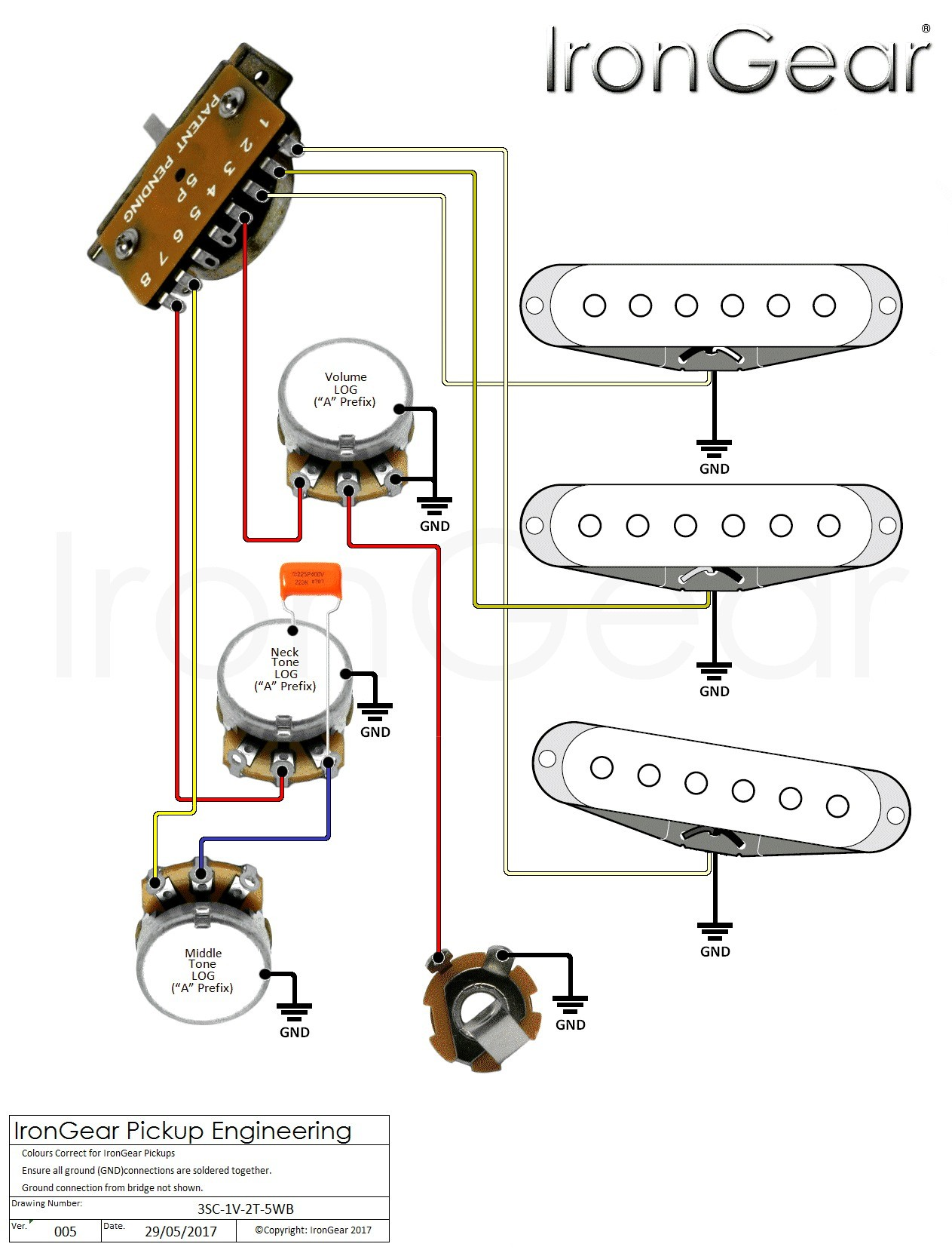 Electric Guitar Wiring Diagram e Pickup New Guitar Wiring Diagrams