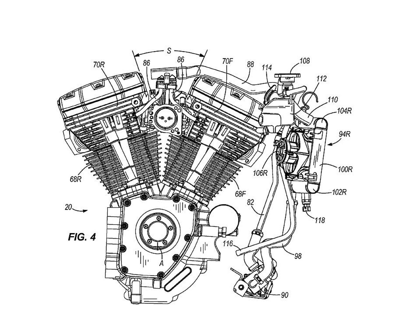 harley v twin engine diagram