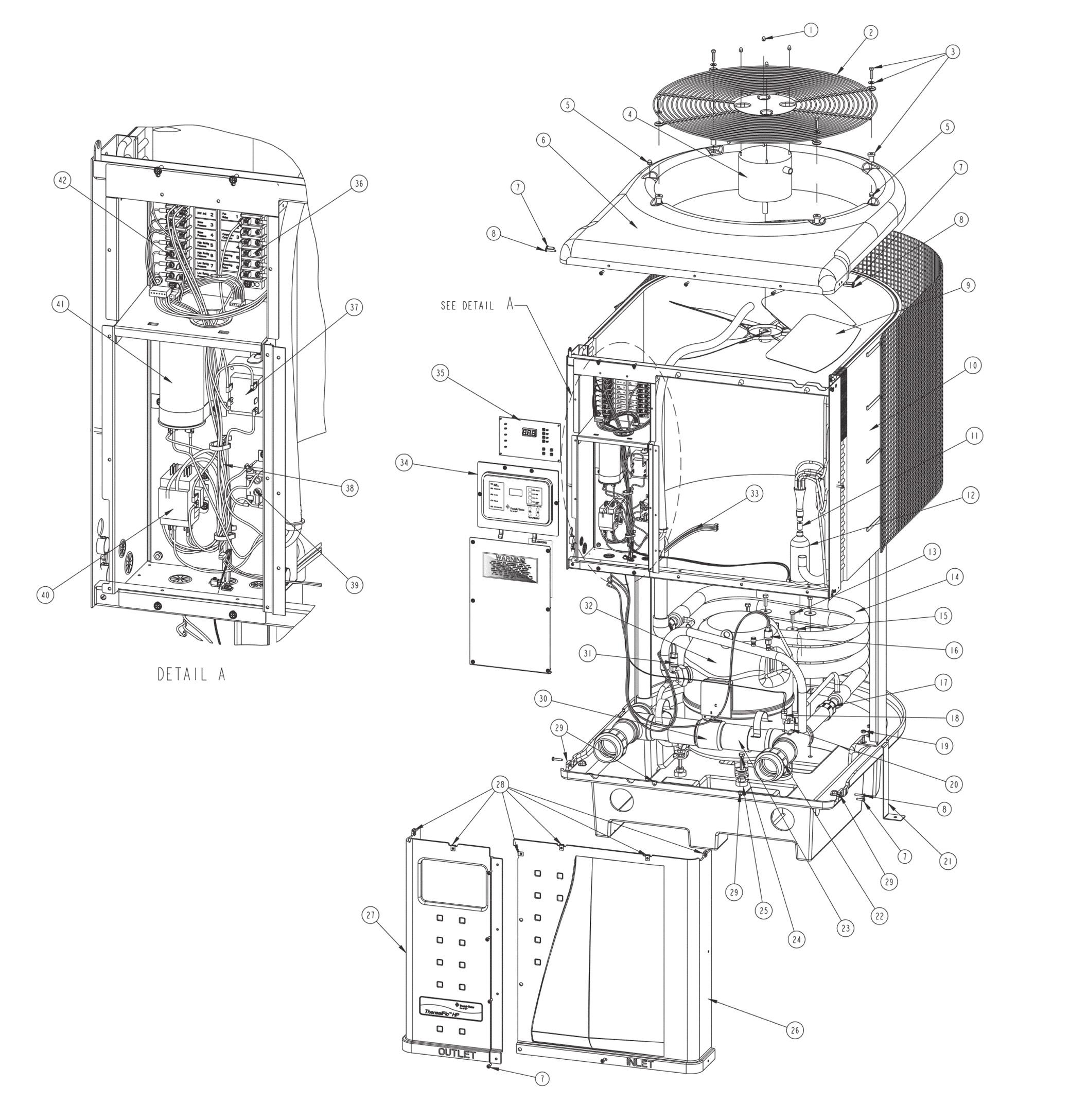 Hayward Super Pump Parts Diagram Pentair thermalflo™ Heat Pump Parts Of Hayward Super Pump Parts Diagram