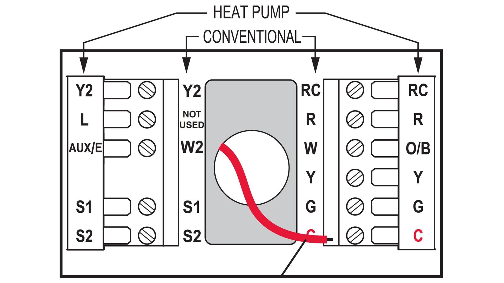 Heat pump thermostat wiring diagram goodman