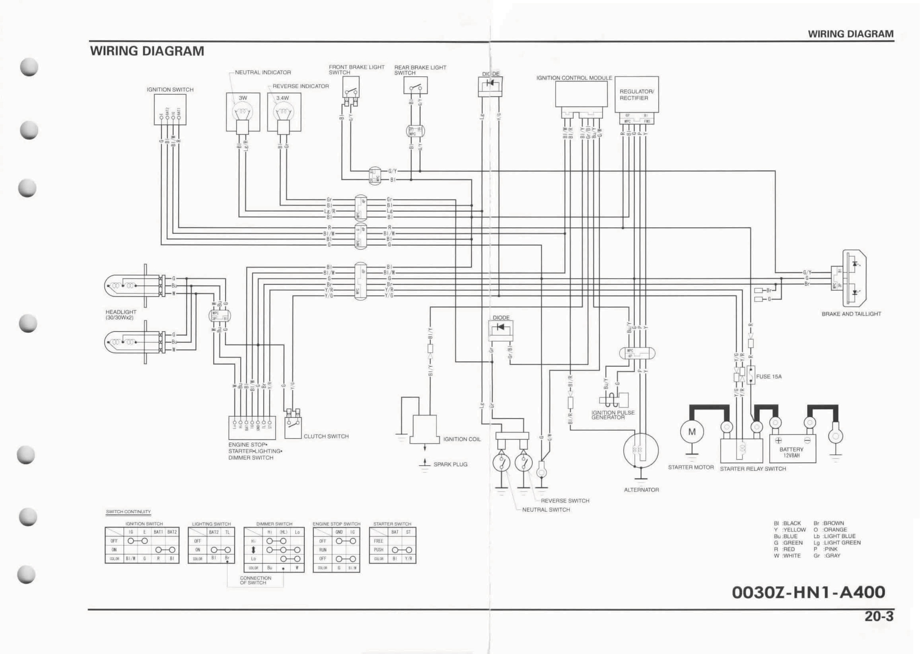 honda fourtrax parts diagram 1996 honda 300 trx wiring