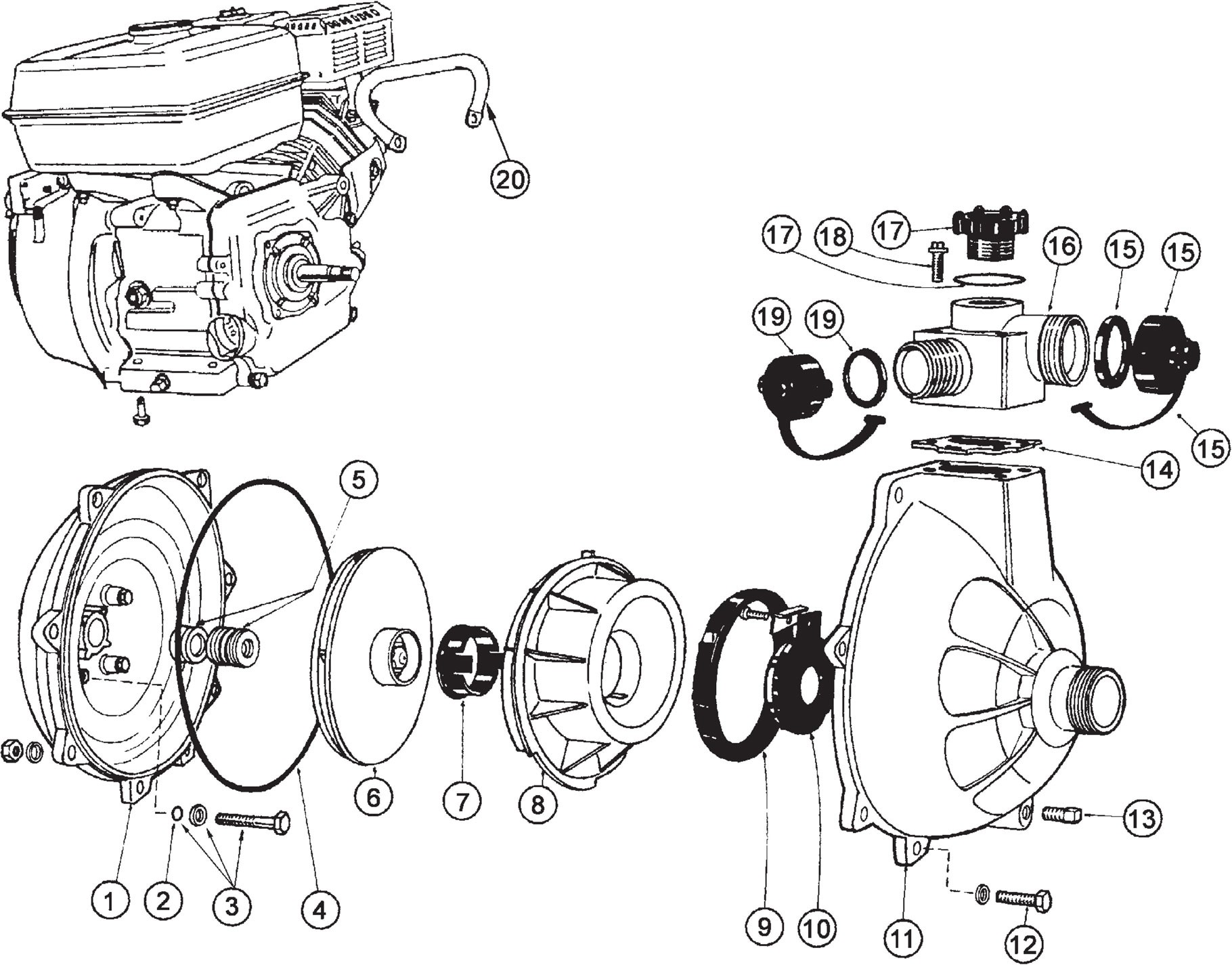 Honda Gx120 Parts Diagram Davey 931 Pump Spares Breakdown Bidgee Pumps & Irrigation Your Of Honda Gx120 Parts Diagram