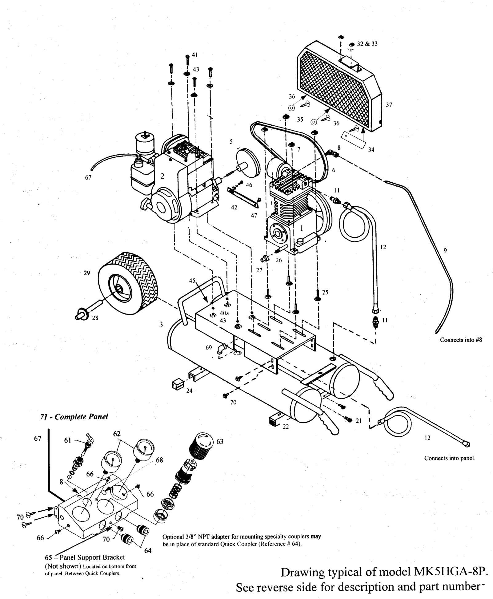 Honda Gx120 Parts Diagram Emglo Mk5hga 8p Air Pressor Parts Of Honda Gx120 Parts Diagram