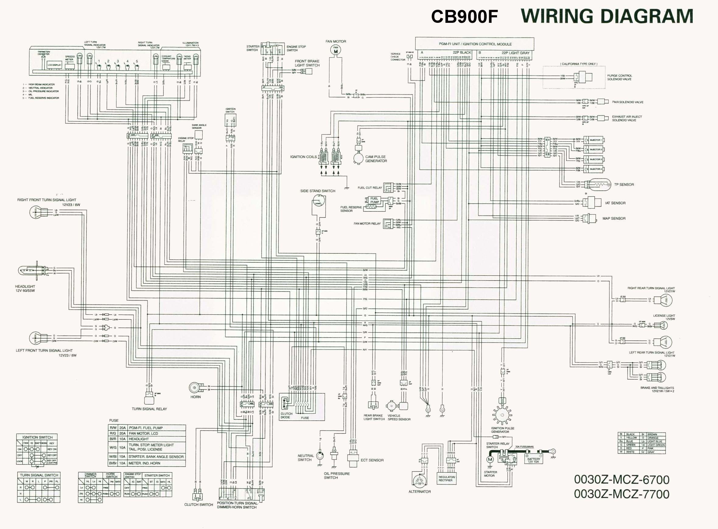 Honda Wiring Diagrams My Diagram Cb 919