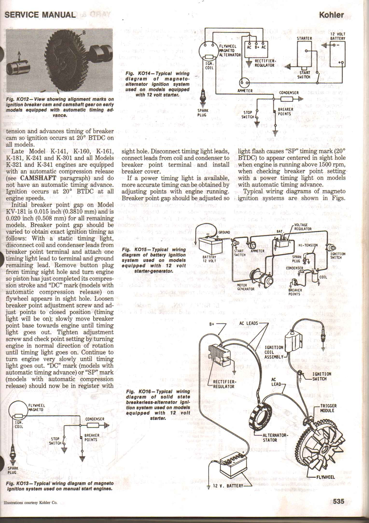 Kohler K301 Engine Diagram I Have A Kohler K301 that I M Working On I Noticed that It Starts Of Kohler K301 Engine Diagram