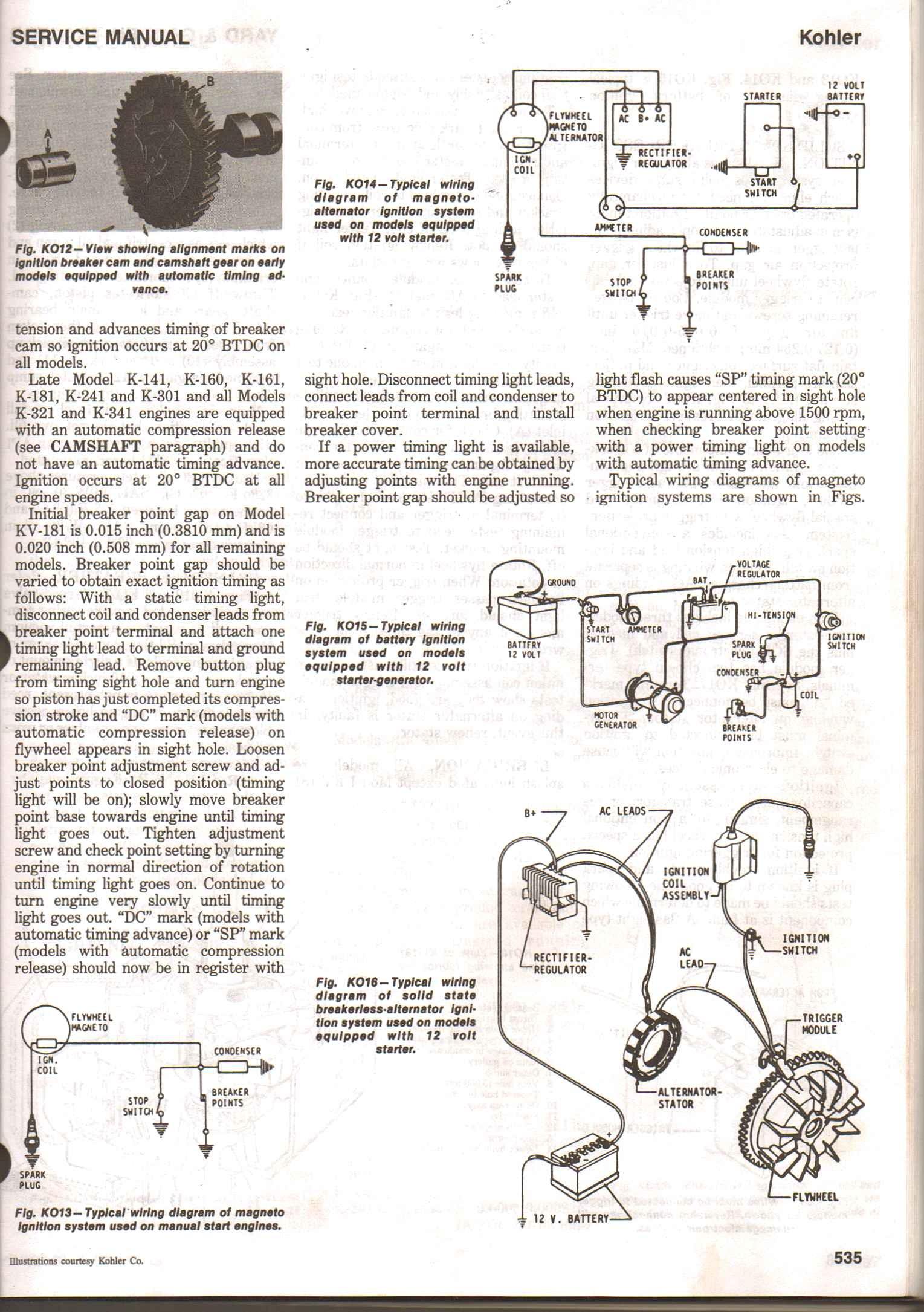Kohler K301 Engine Diagram Parts New K301s Diagrams I Have A That M Working On Noticed