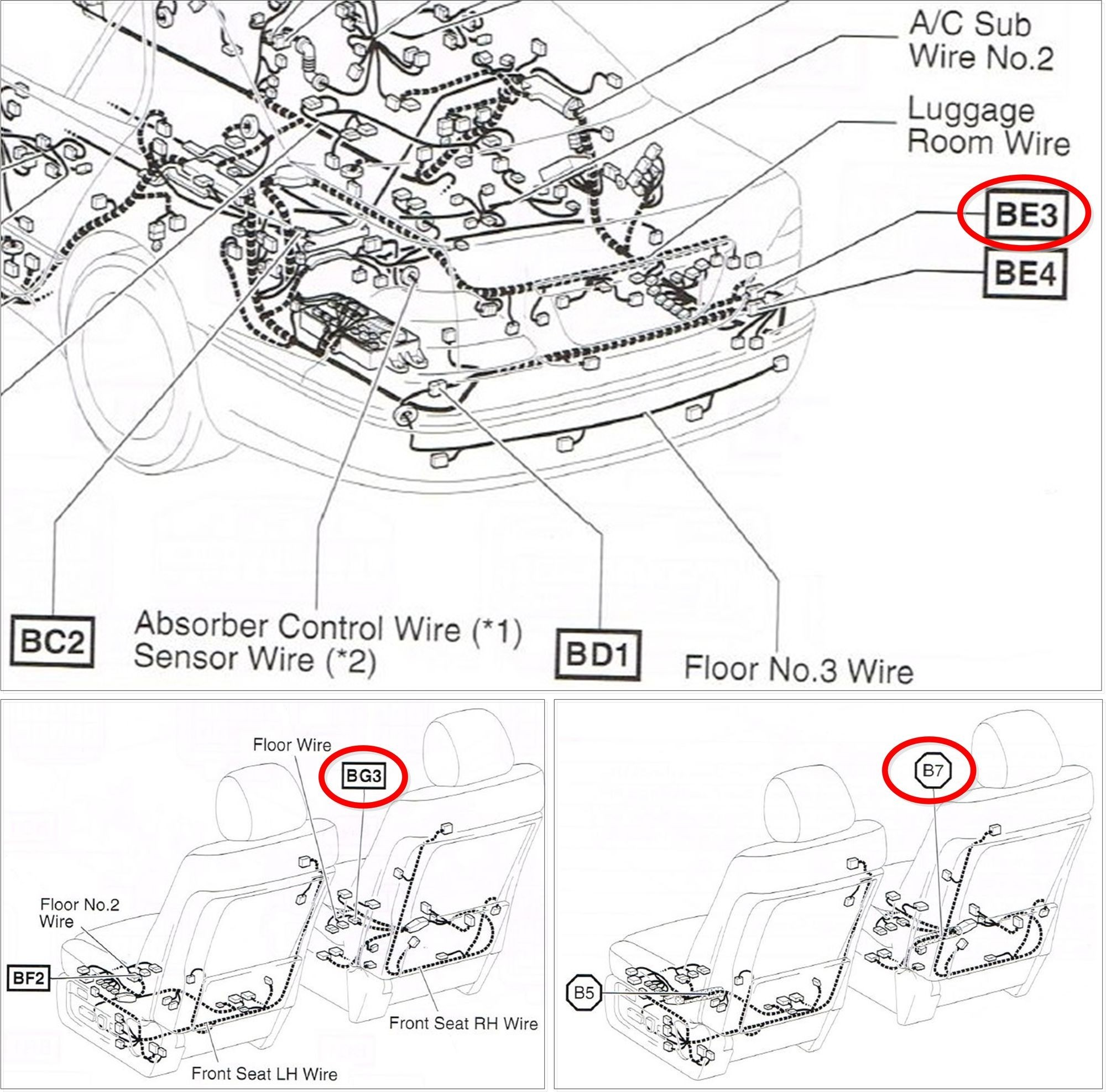 2002 lexus ls 430 wiring harness diagram