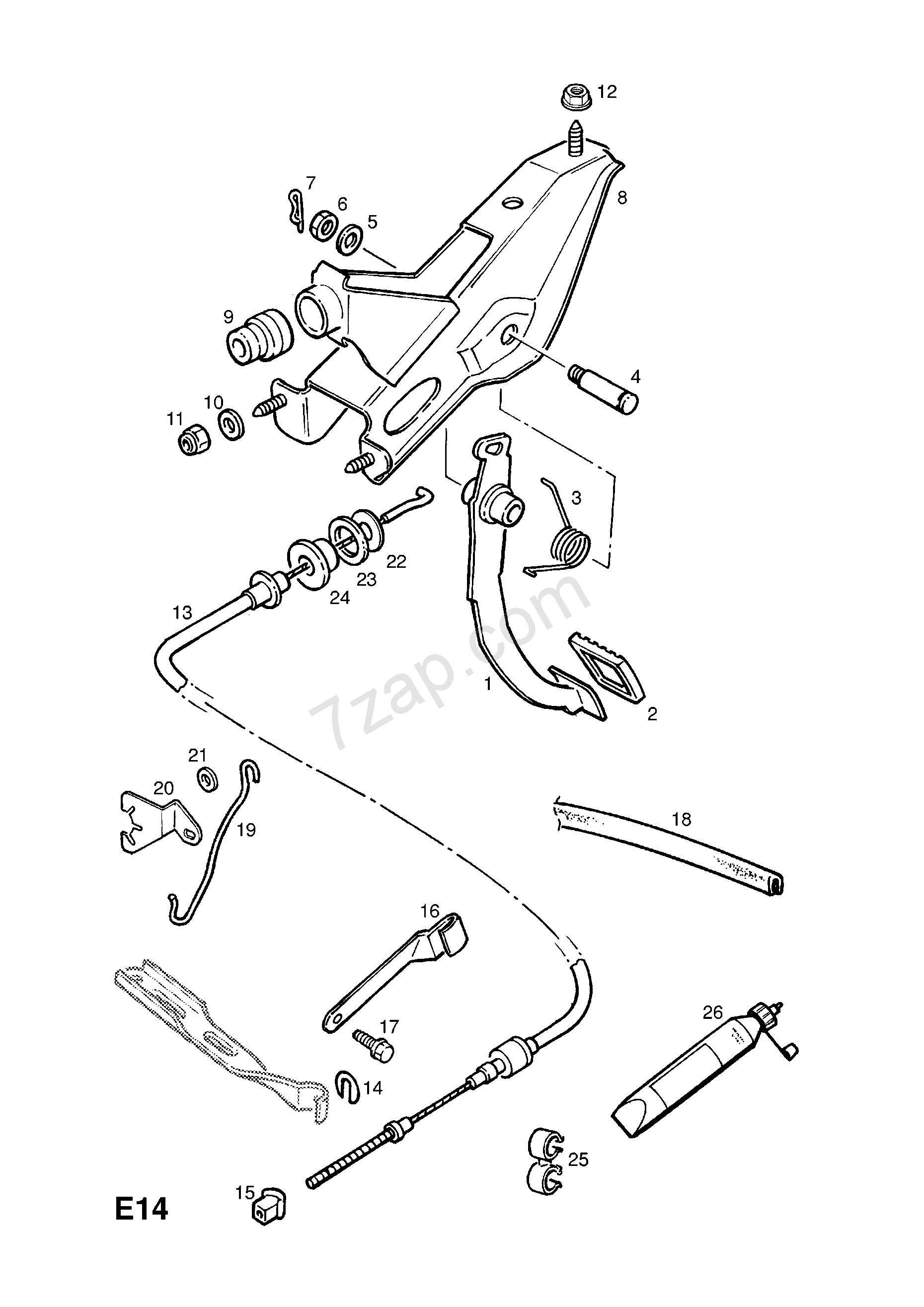 Manual Transmission Clutch Diagram Clutch Pedal and Fixings Contd [used with Manual Transmission Rhd Of Manual Transmission Clutch Diagram
