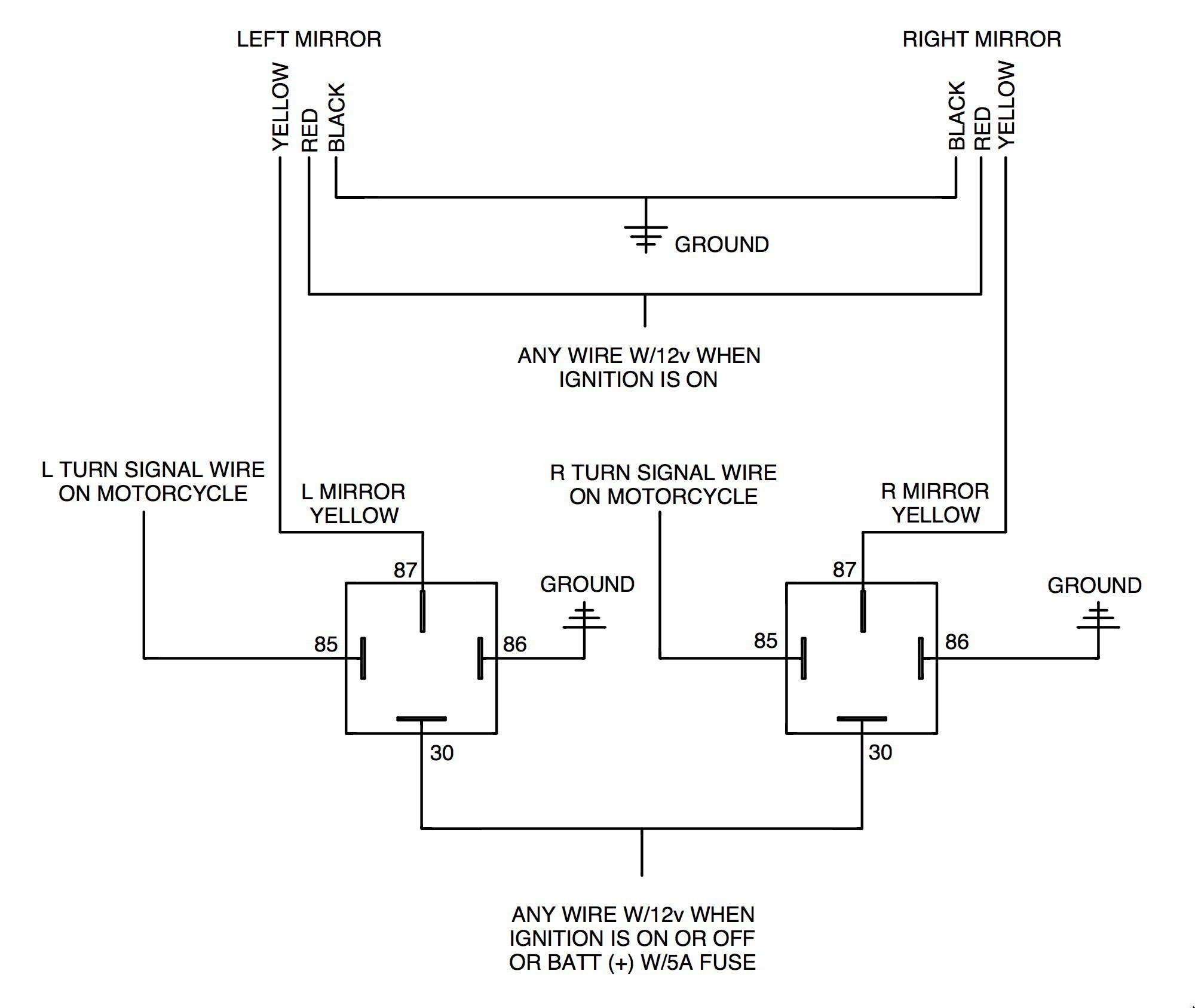 Motorcycle Light Switch Wiring Diagram : Basic stop light wiring diagram trailer brake breakaway