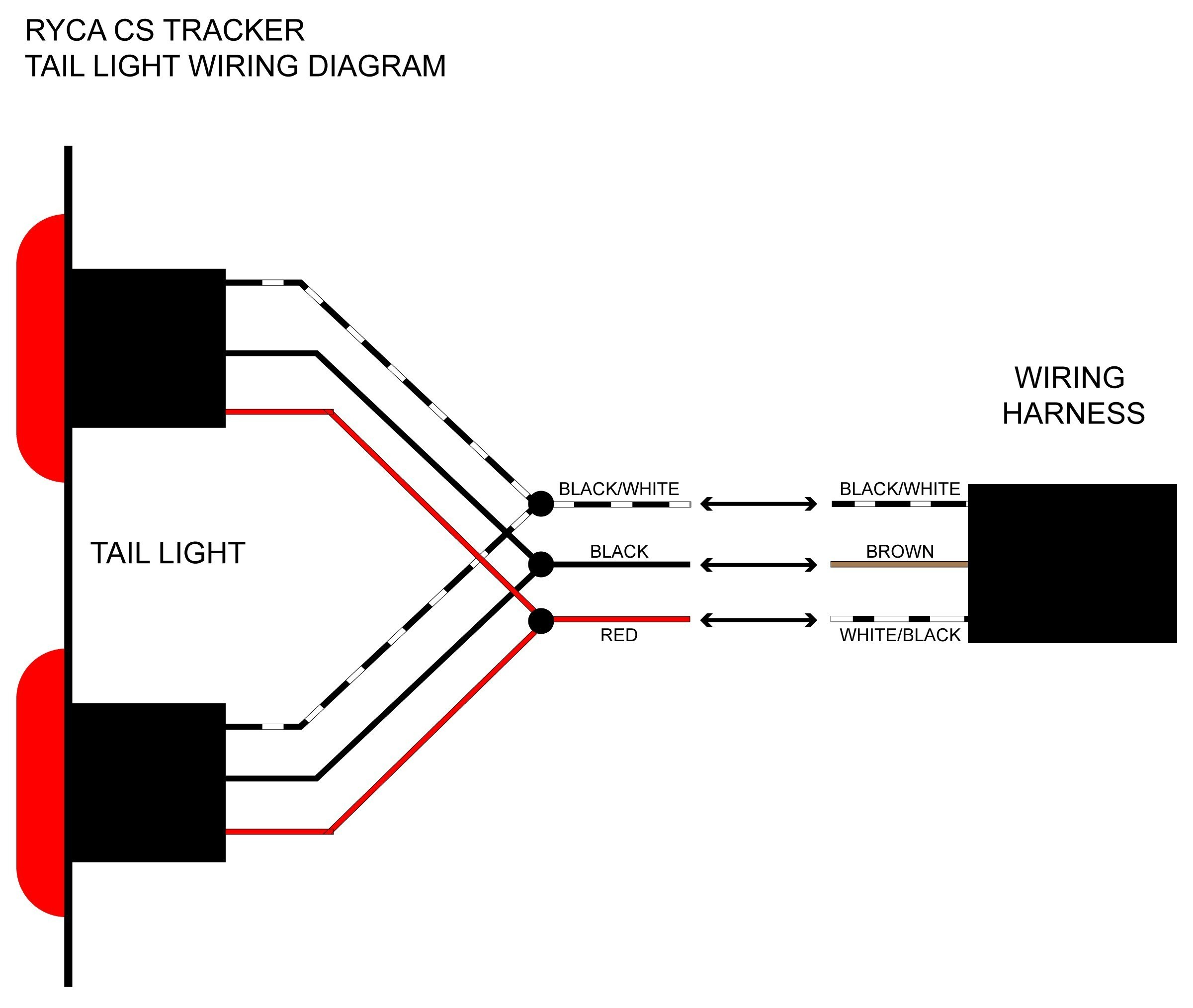 Motorcycle Tail Light Wiring Diagram Wiring Diagram for Trailer Tail Lights  Free Download Wiring Diagram Of