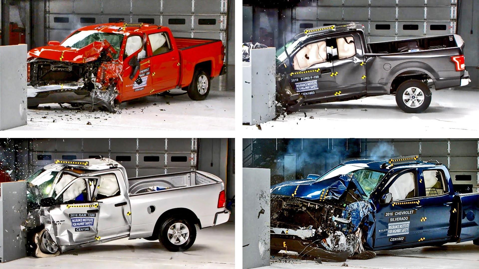 Parts Of A Pickup Truck Diagram Crash Tests 2016 Pickup Truck F 150 Silverado Tundra Ram Of Parts Of A Pickup Truck Diagram