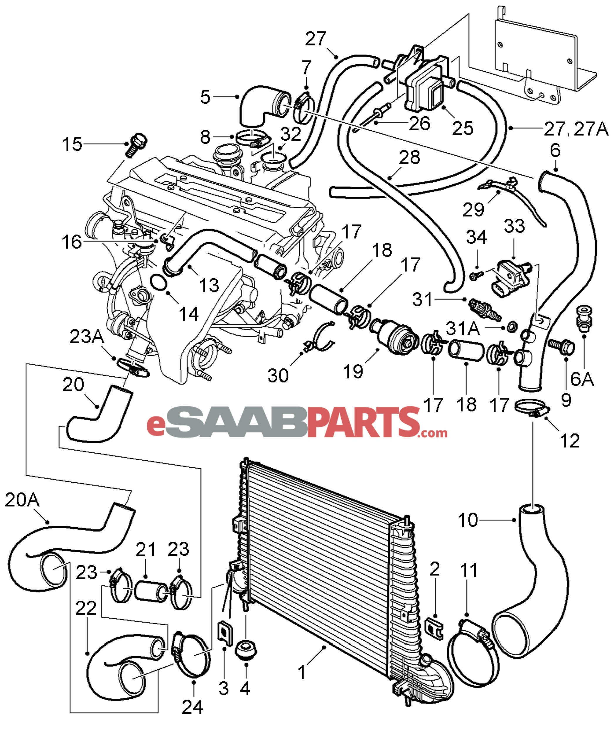 1993 saab 9 3 engine diagram