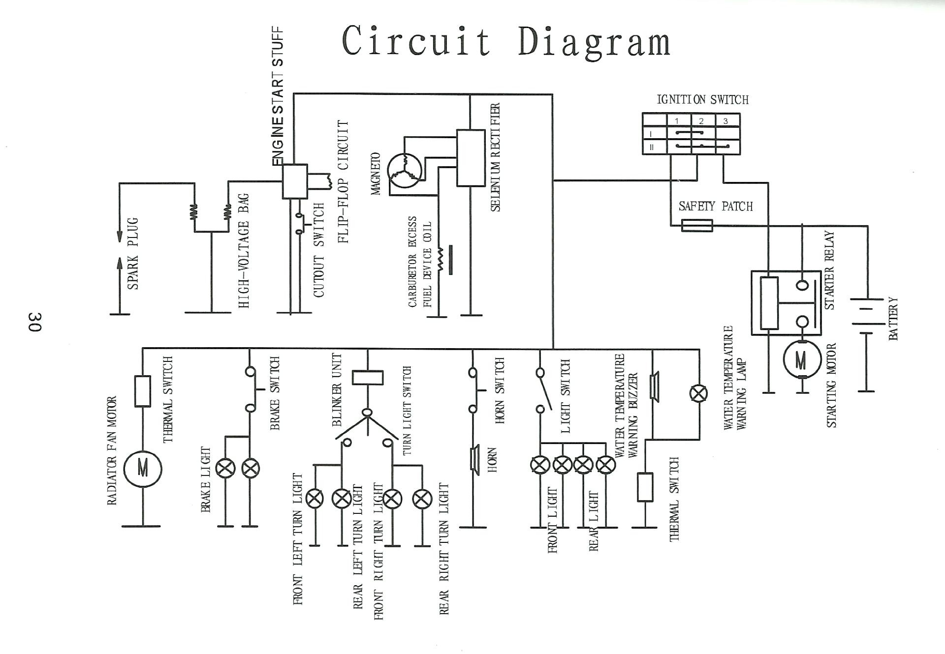 Scooter Engine Diagram Motorcycle Cd70 Chinese Atv Wiring Harness Related Post