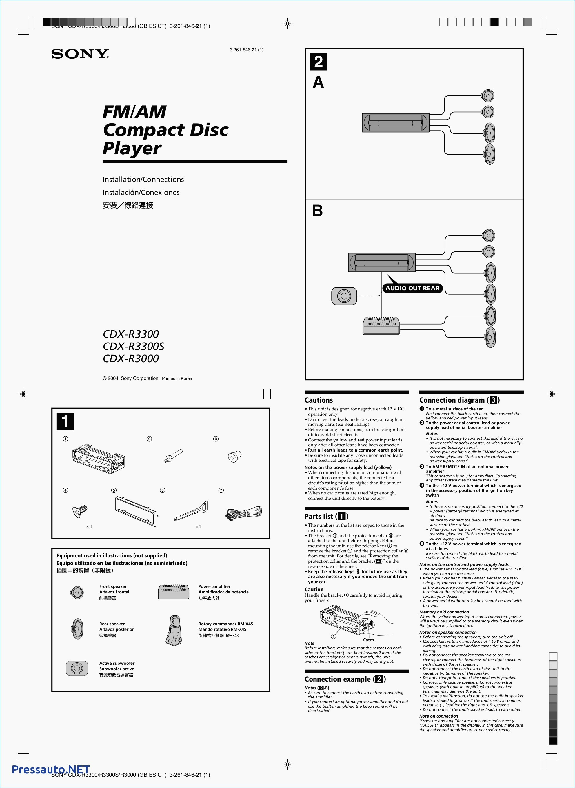 sony fm am compact disc player wiring diagram wiring