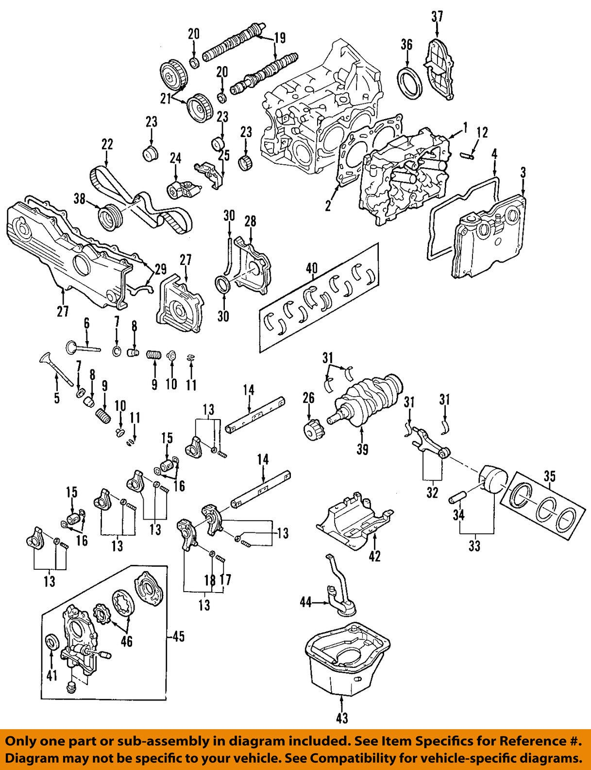 2006 subaru forester engine diagram